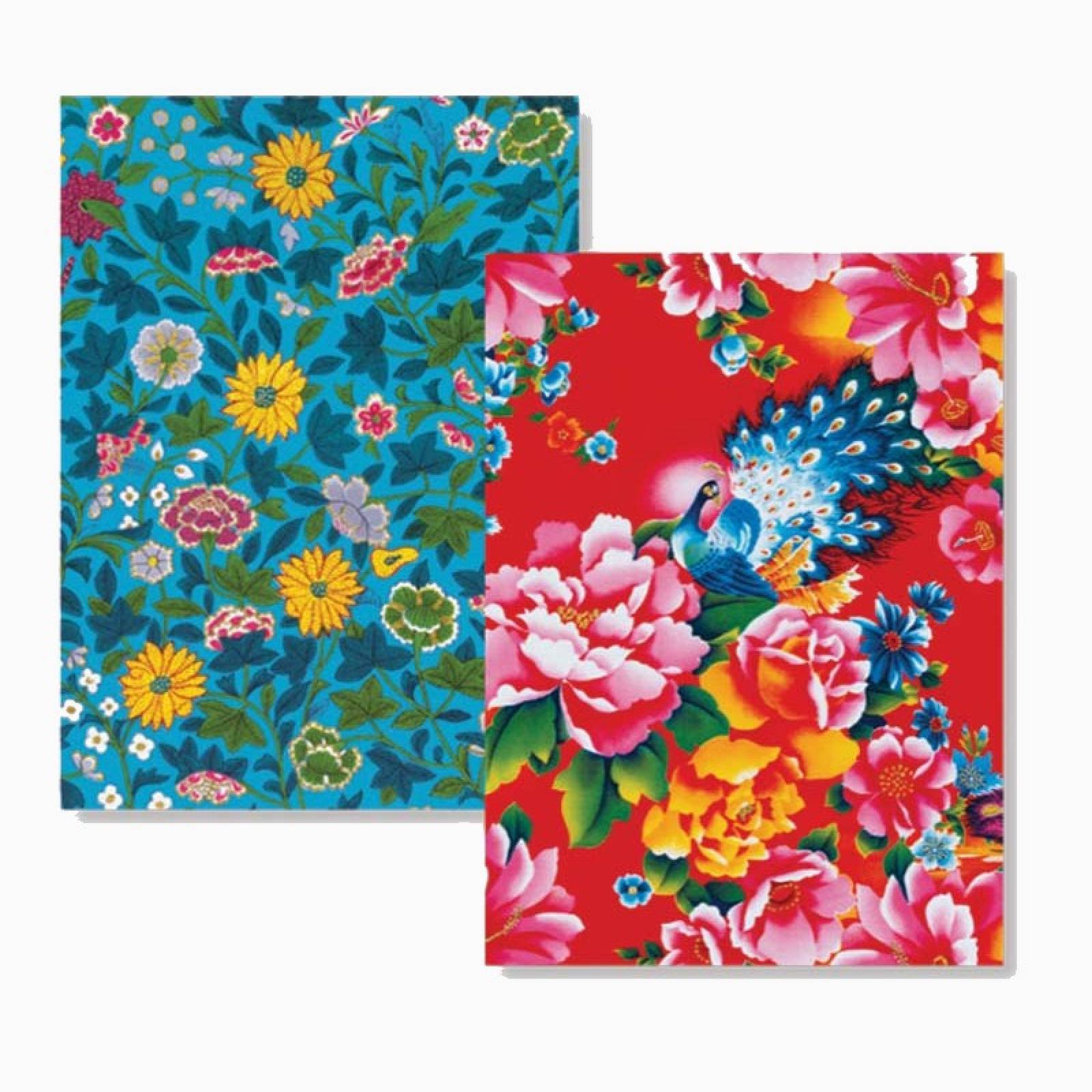 Chinese Florals - Box Of 8 Luxury Foiled Notecards & Envelopes thumbnails