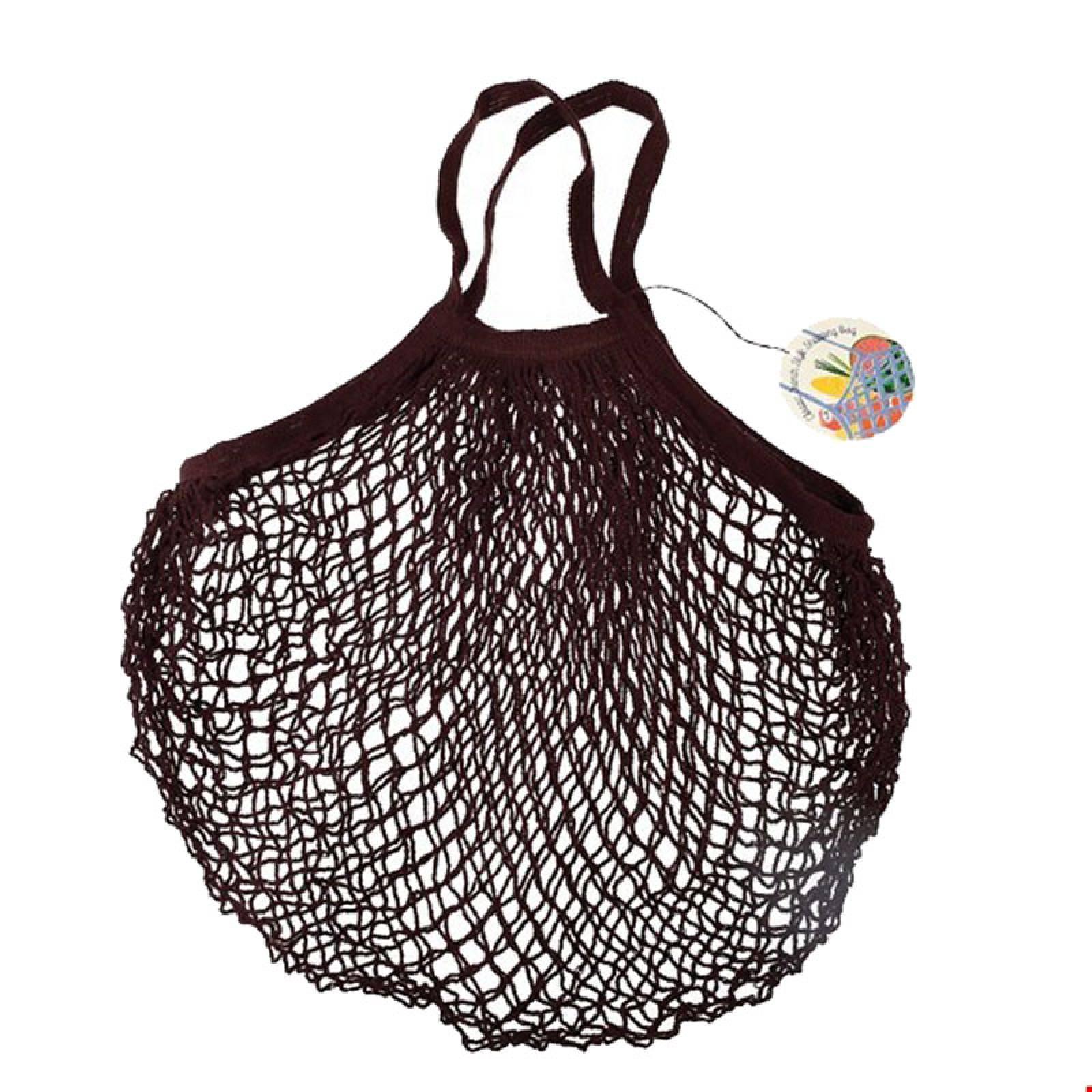 Chocolate Brown String Shopping Bag