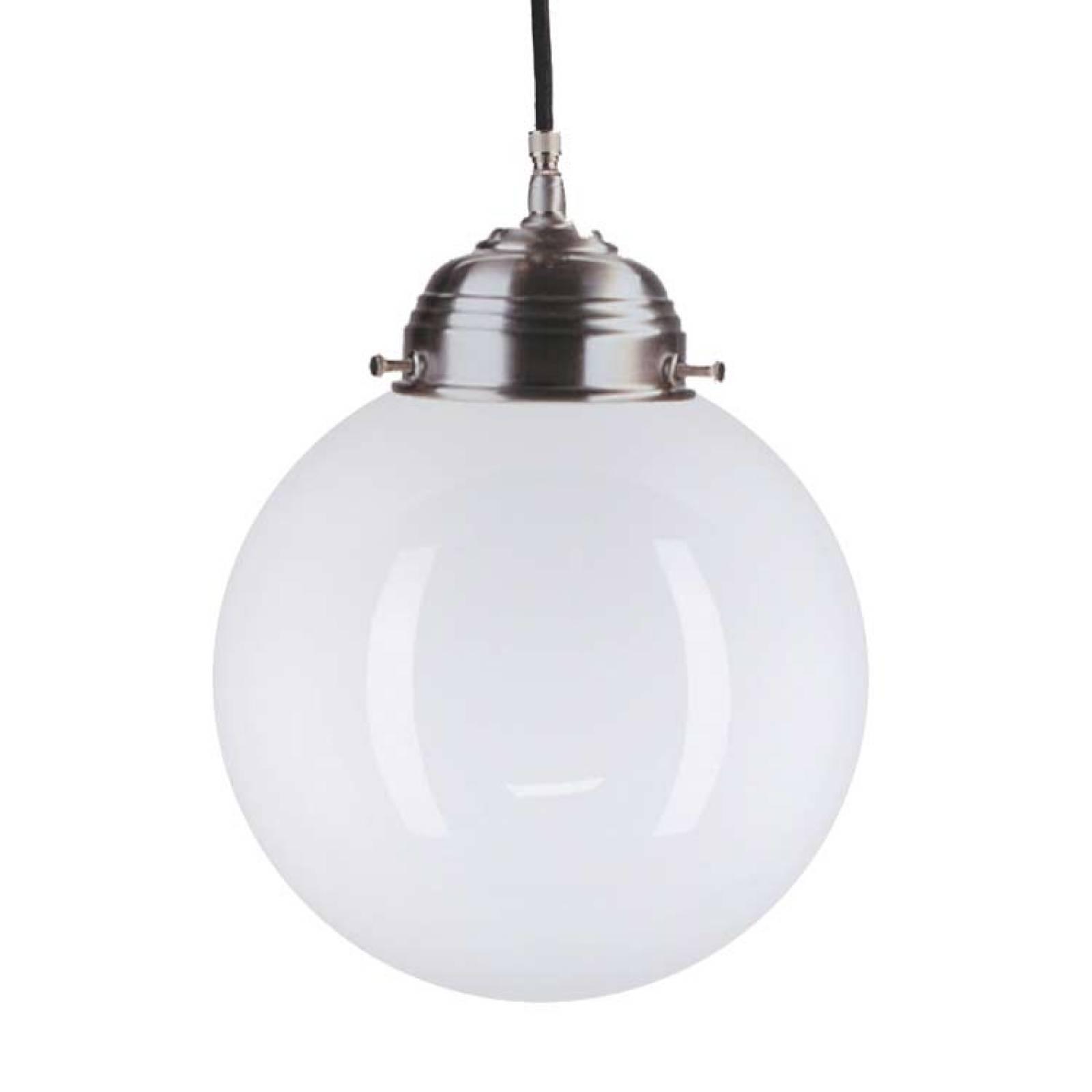 Large Chrome Deco Globe Ceiling Lamp/ Light 35cm.