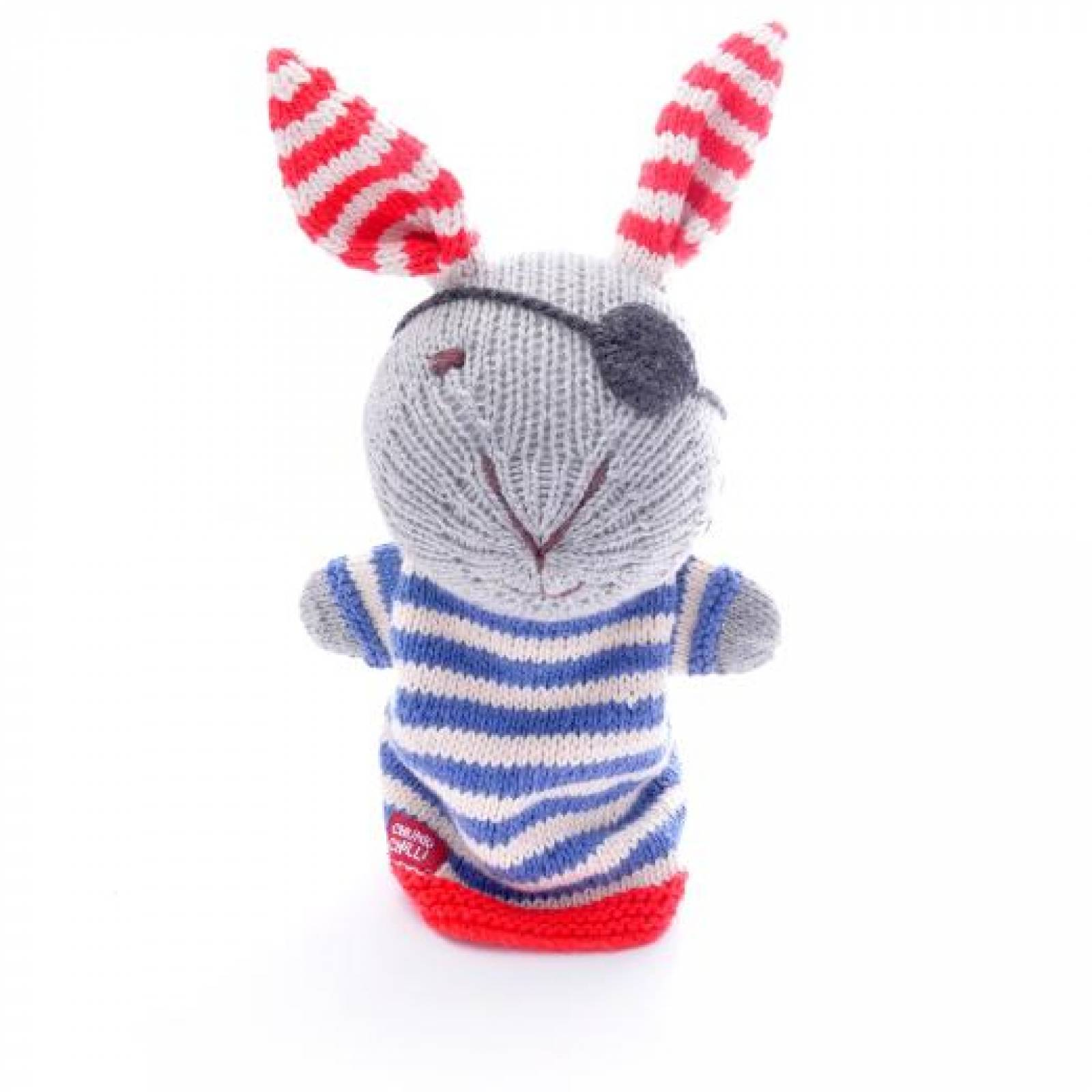 Pirate Rabbit - Hand Knitted Glove Puppet Organic Cotton