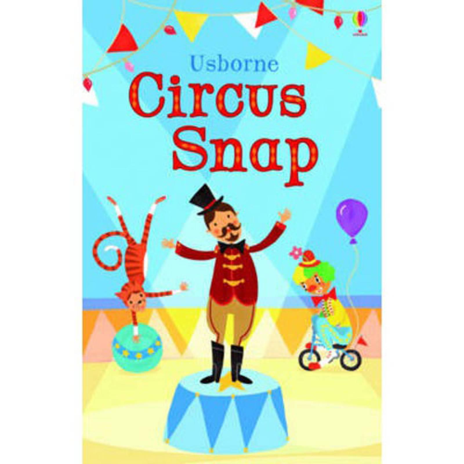 O/ PRINT Usborne Circus Snap Boxed Card Game 3+