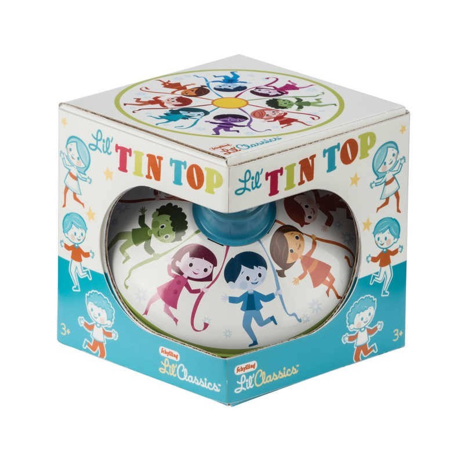 Classic Small Tin Spinning Top With Dancing Children 3+ thumbnails