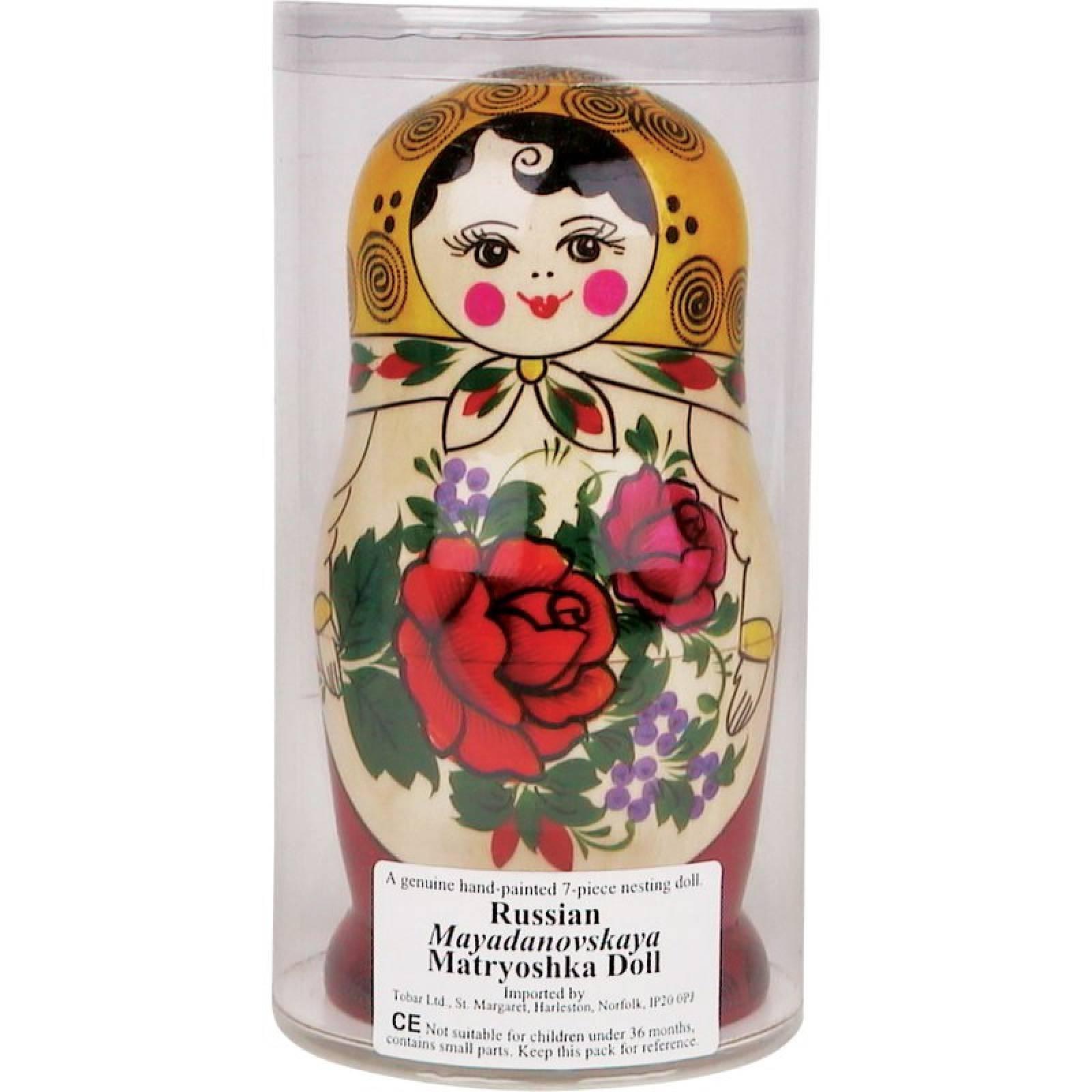 Classic Wooden Russian Doll Babushka 5 Dolls TB thumbnails