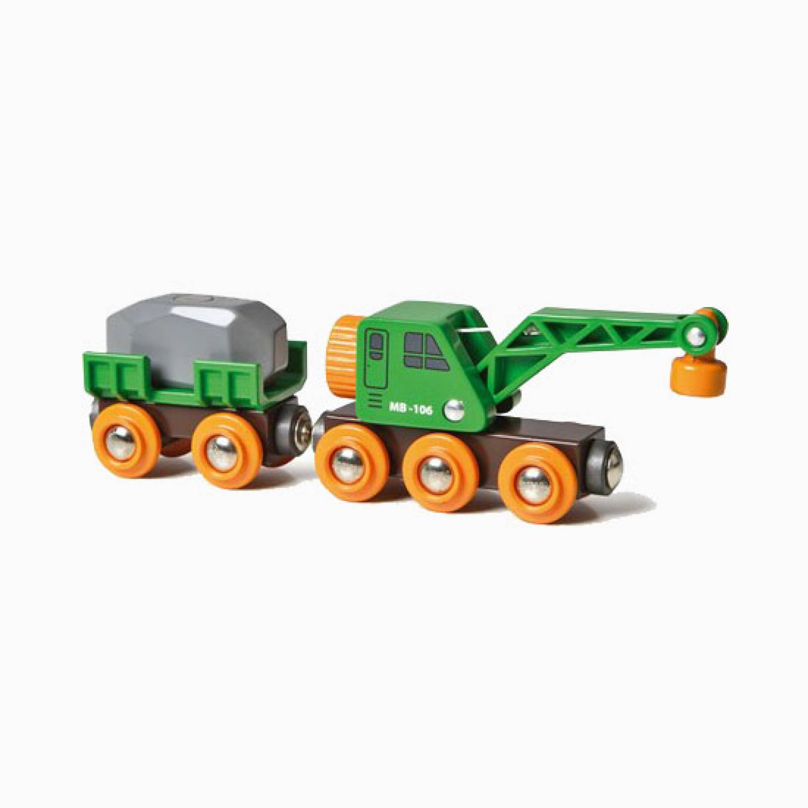 Clever Crane Wagon BRIO® Wooden Railway Age 3+ thumbnails