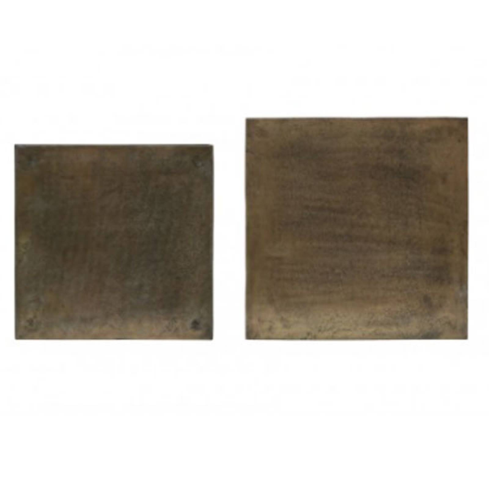 Banso Coffee Tables Set 2  Antique Bronze Top thumbnails