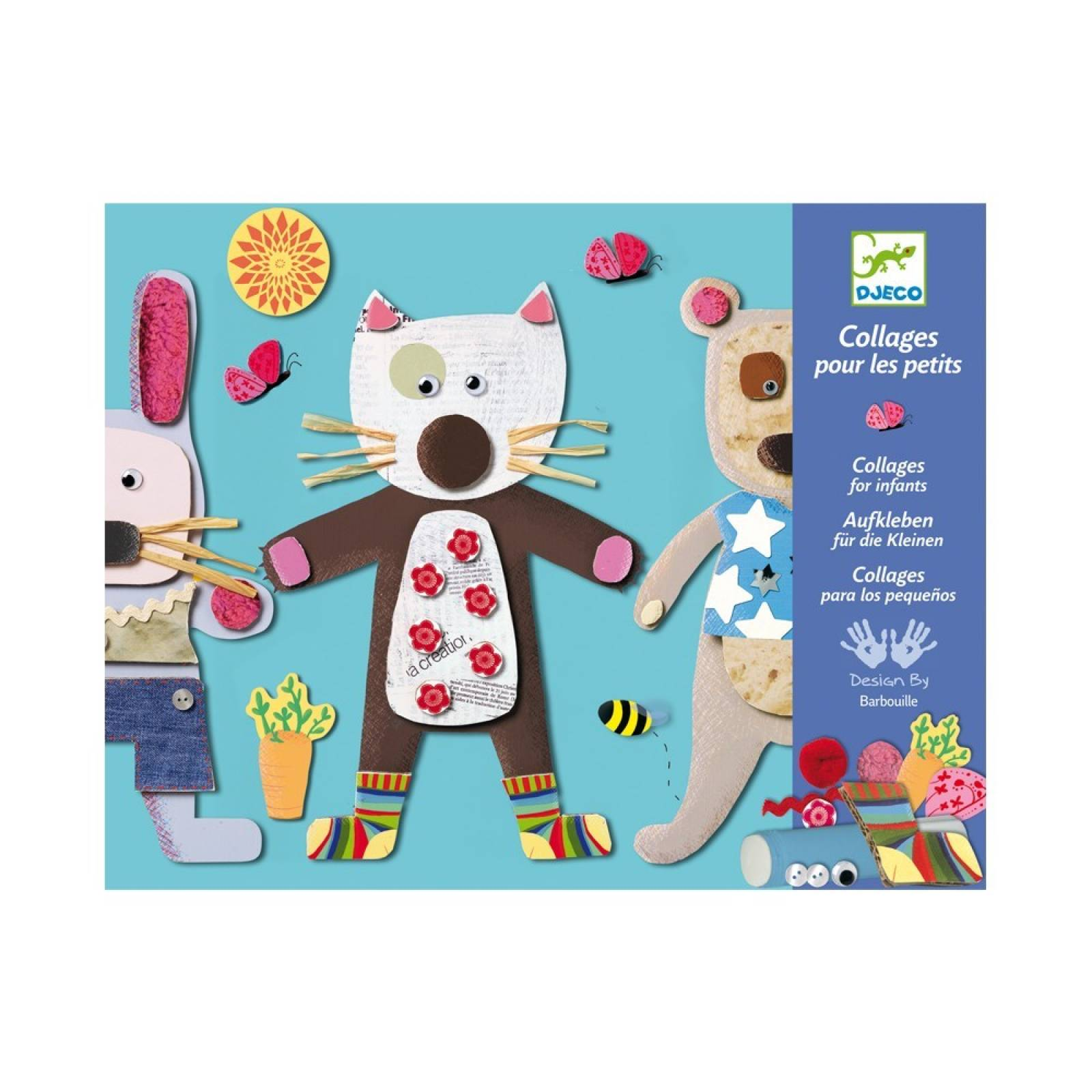 Animal Collage For Little Ones By Djeco 3-6yrs