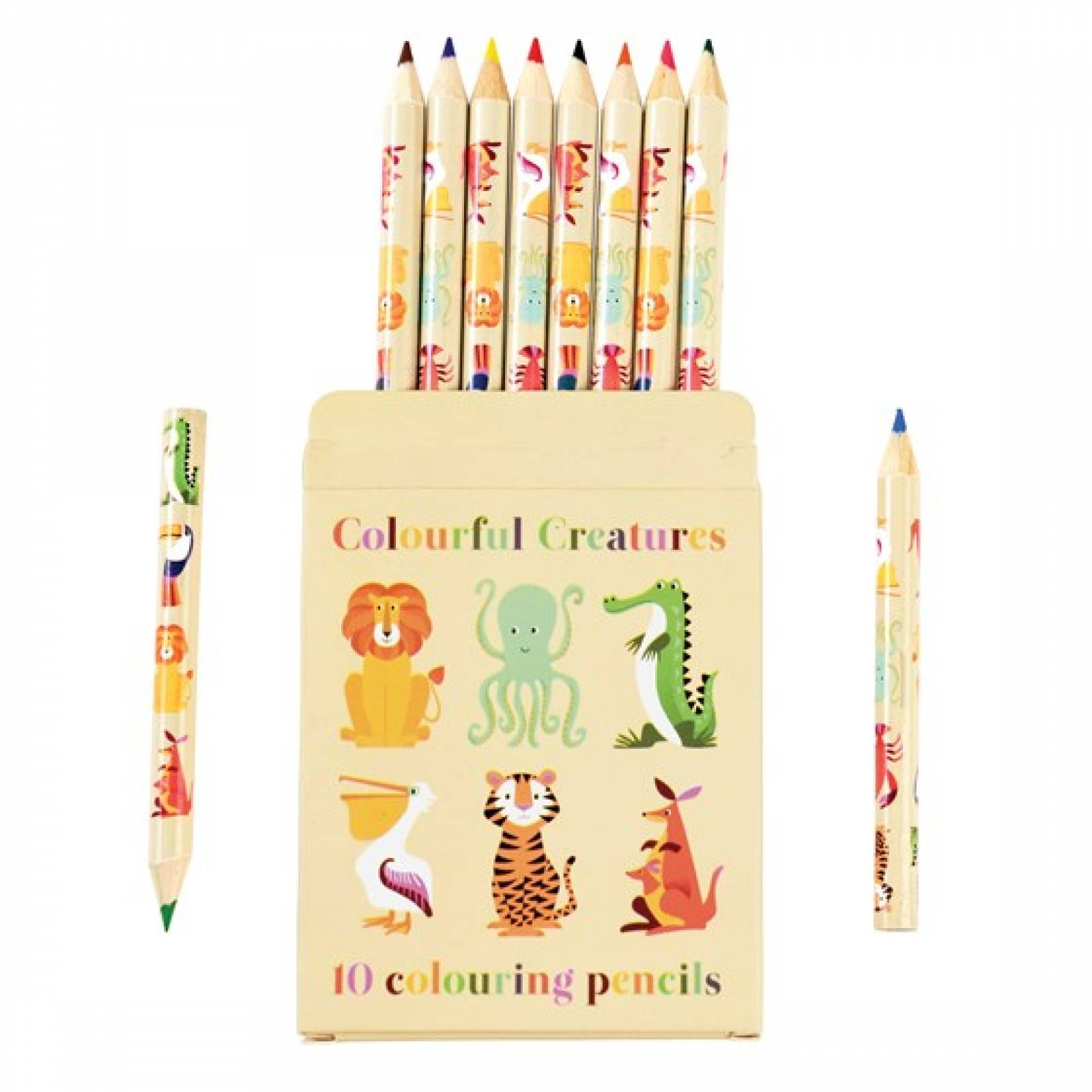 Colourful Creatures Colouring Pencils x 10 In Box