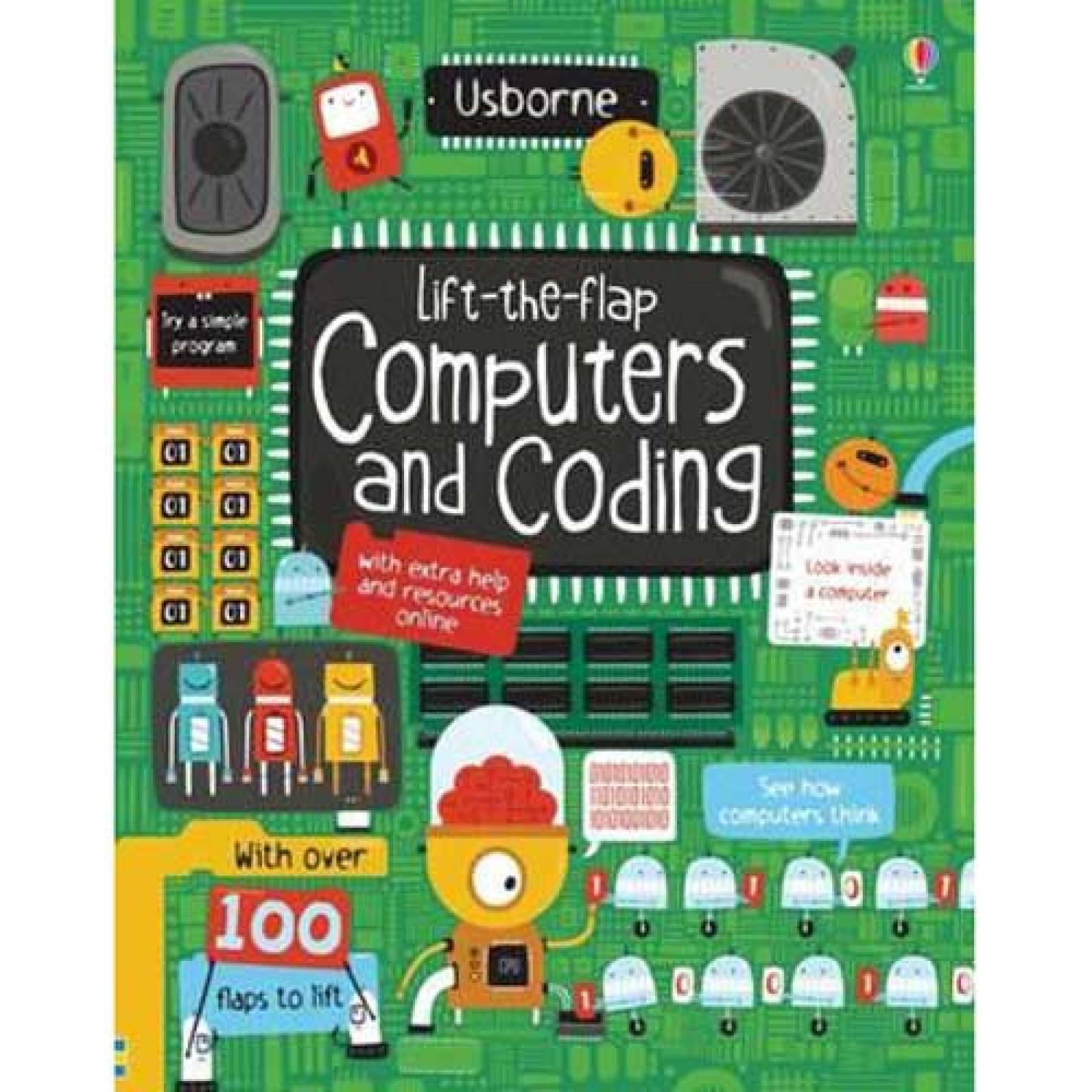 Computers and Coding Lift-the-flap Usborne Hardback Book