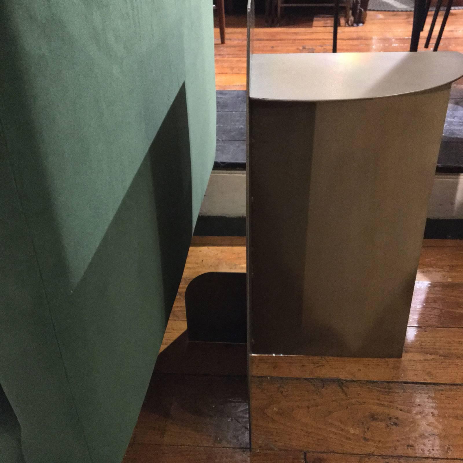 Small Brass Quadrant Console Table thumbnails