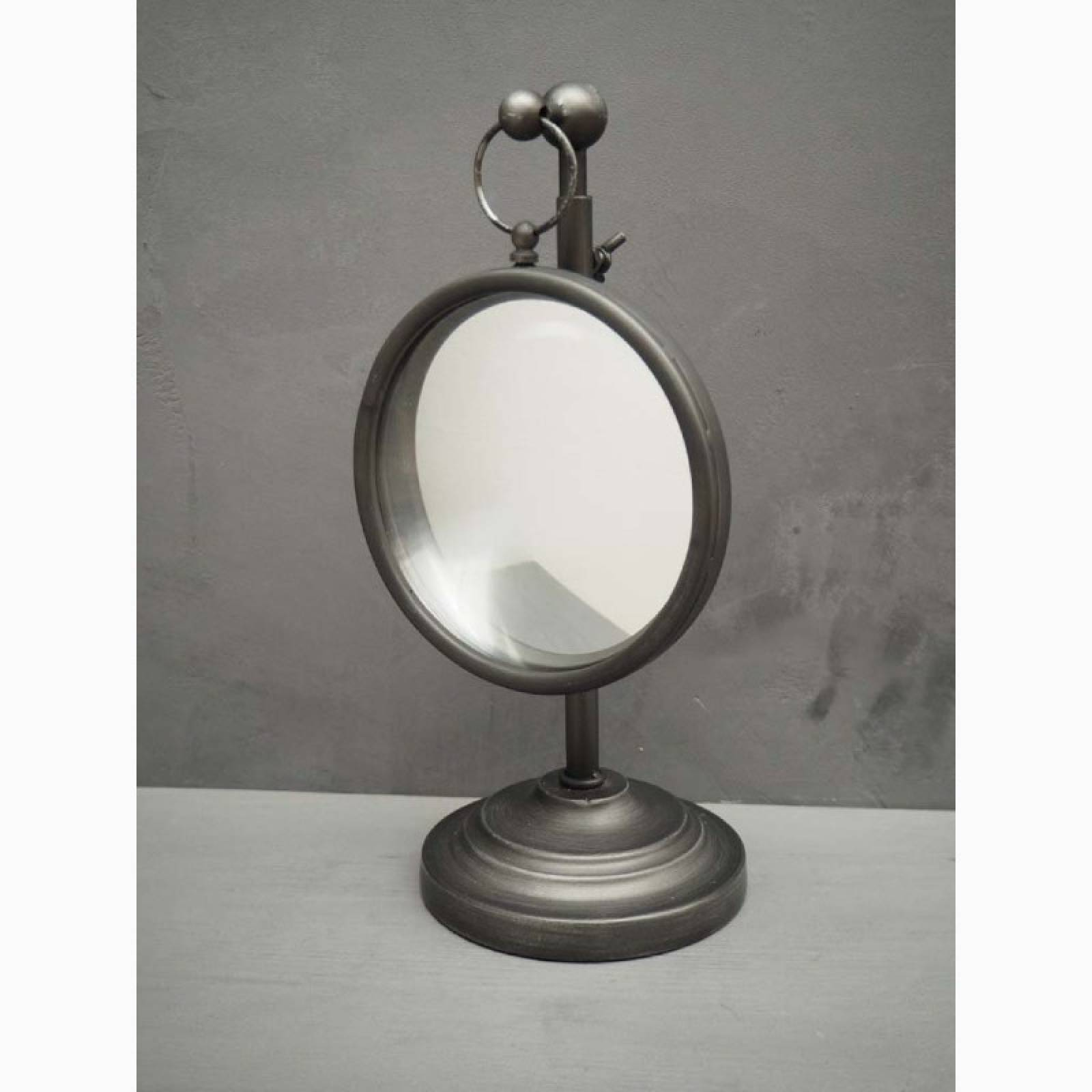 Small Convex Table Mirror On Adjustable Metal Stand thumbnails