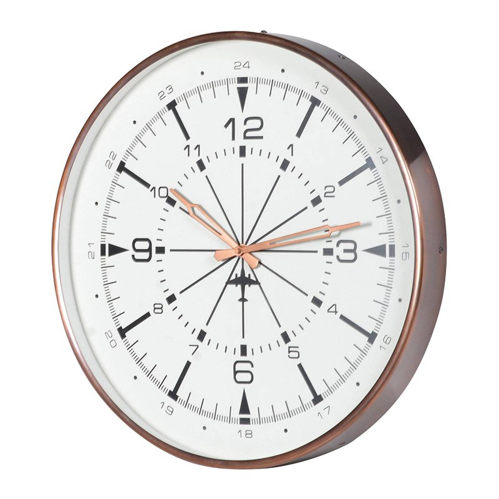Copper Finish Airport Wall Clock Small 44cm thumbnails