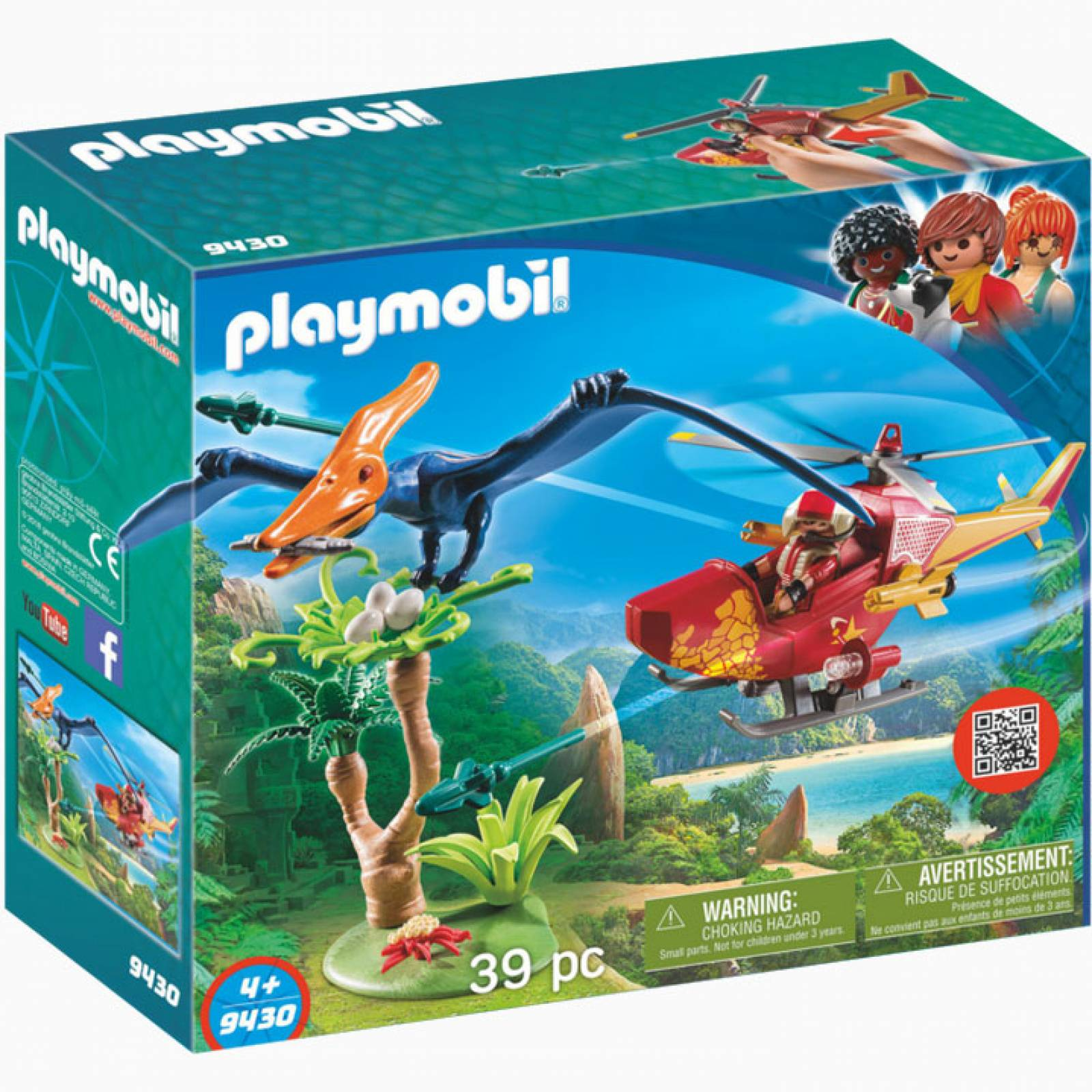 Adventure Copter With Pterodactyl Playmobil  Dinosaurs 9430 thumbnails