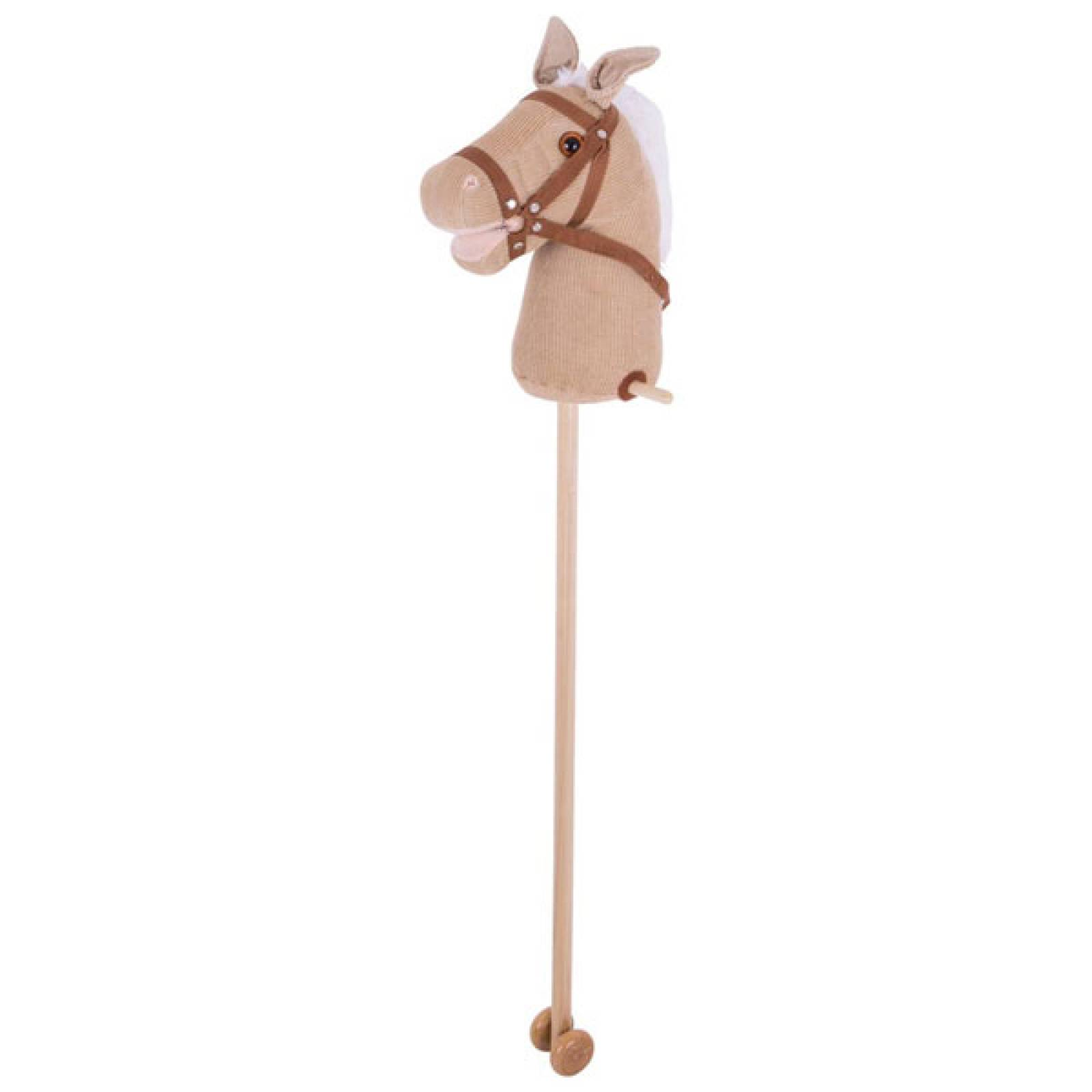 Soft Tan Corduroy Fabric Hobby Horse 3+