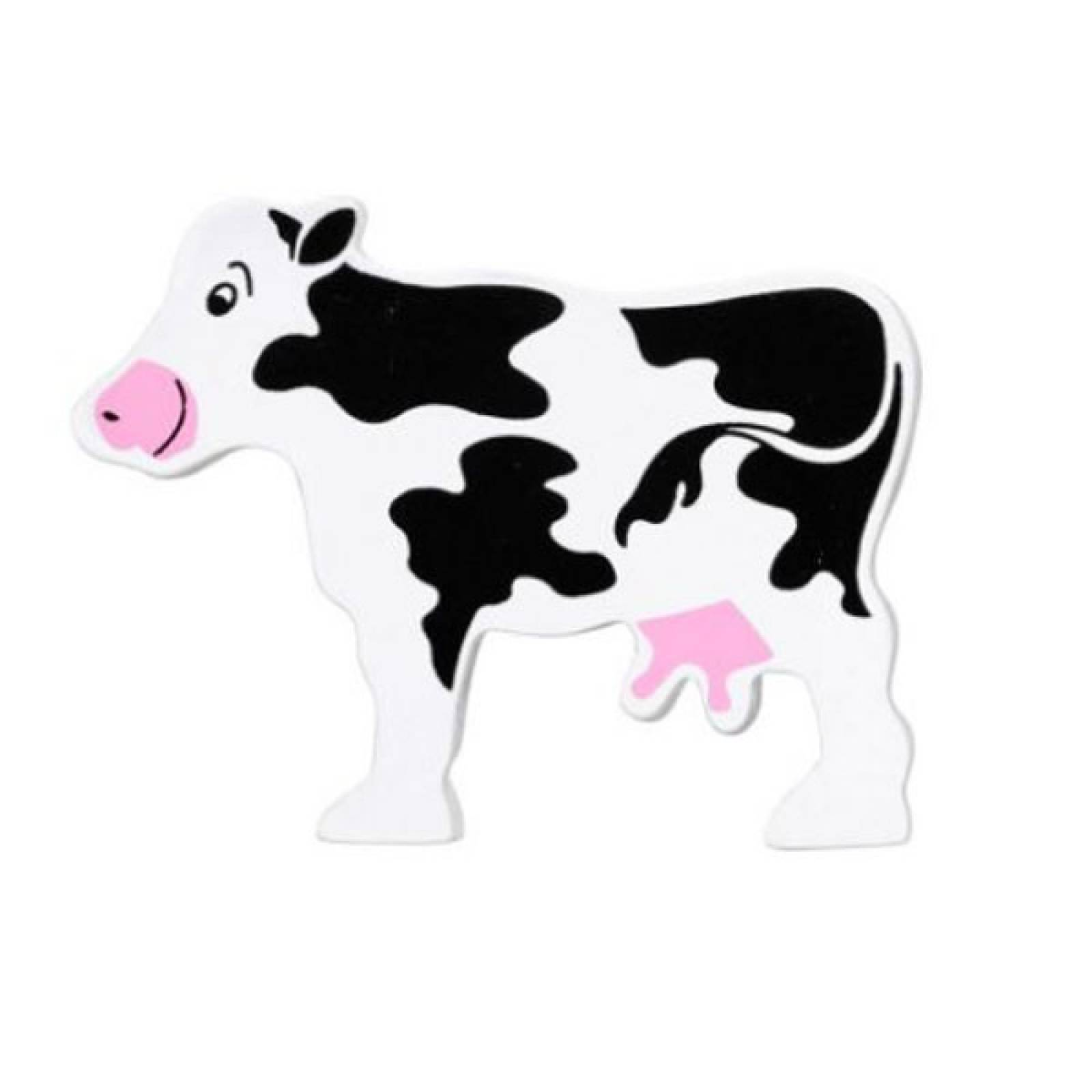 Cow Wooden Painted Animal Fairtrade Lanka Kade