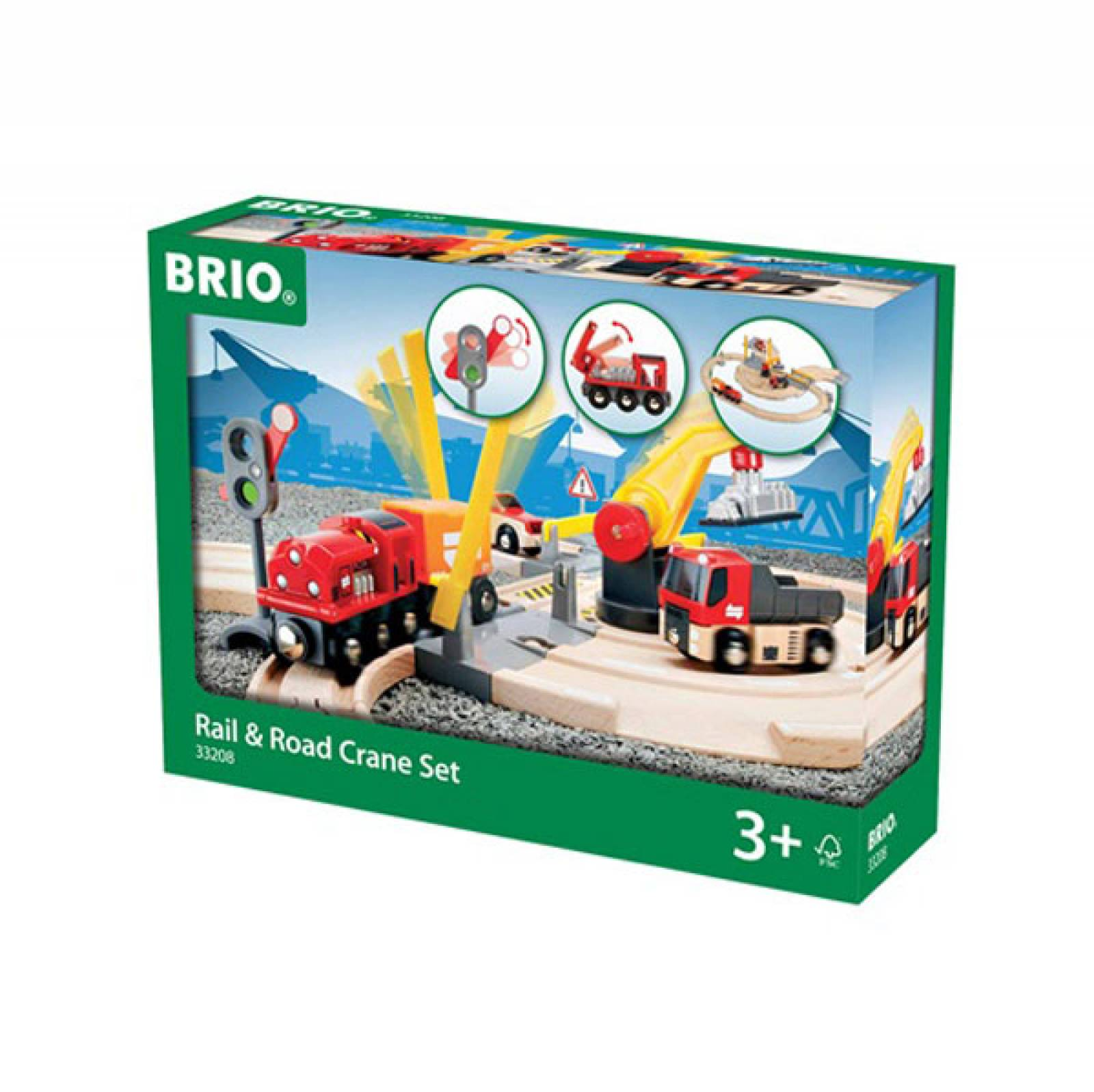 Rail & Road Crane Set BRIO Wooden Railway Age 3+ thumbnails