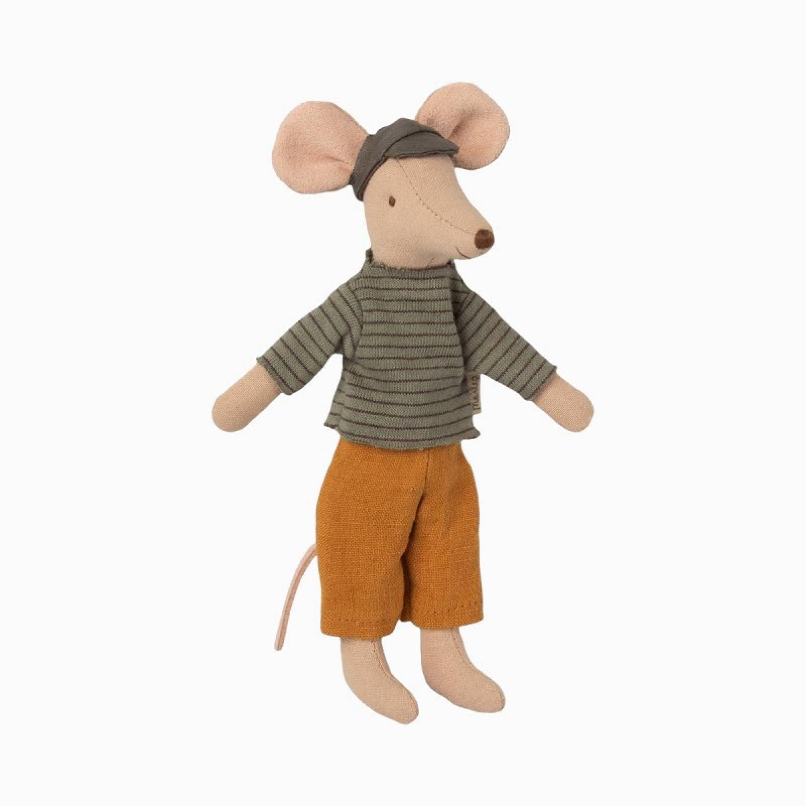 Dad Mouse In Clothes Soft Toy By Maileg