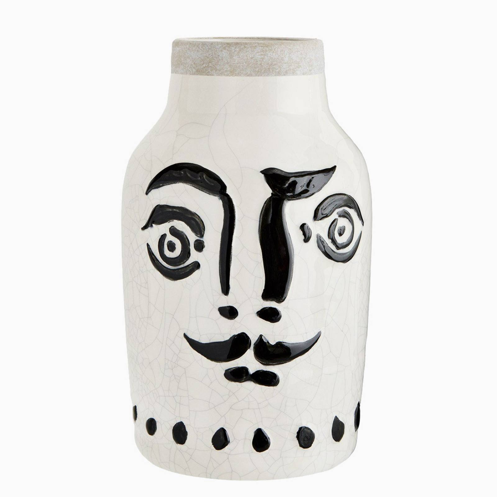 Large Painted Face Vase