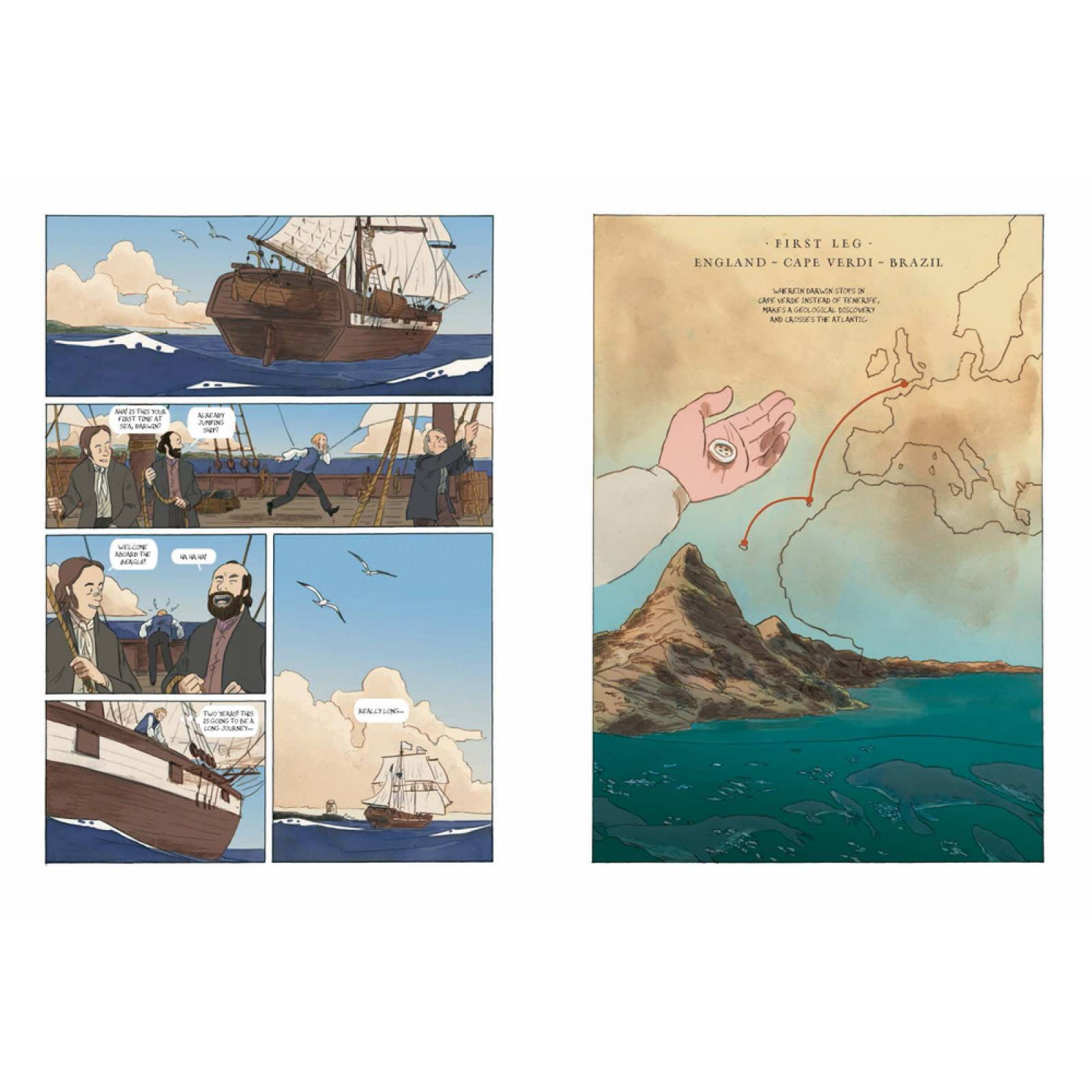 Darwin: An Exceptional Voyage - Hardback Book thumbnails