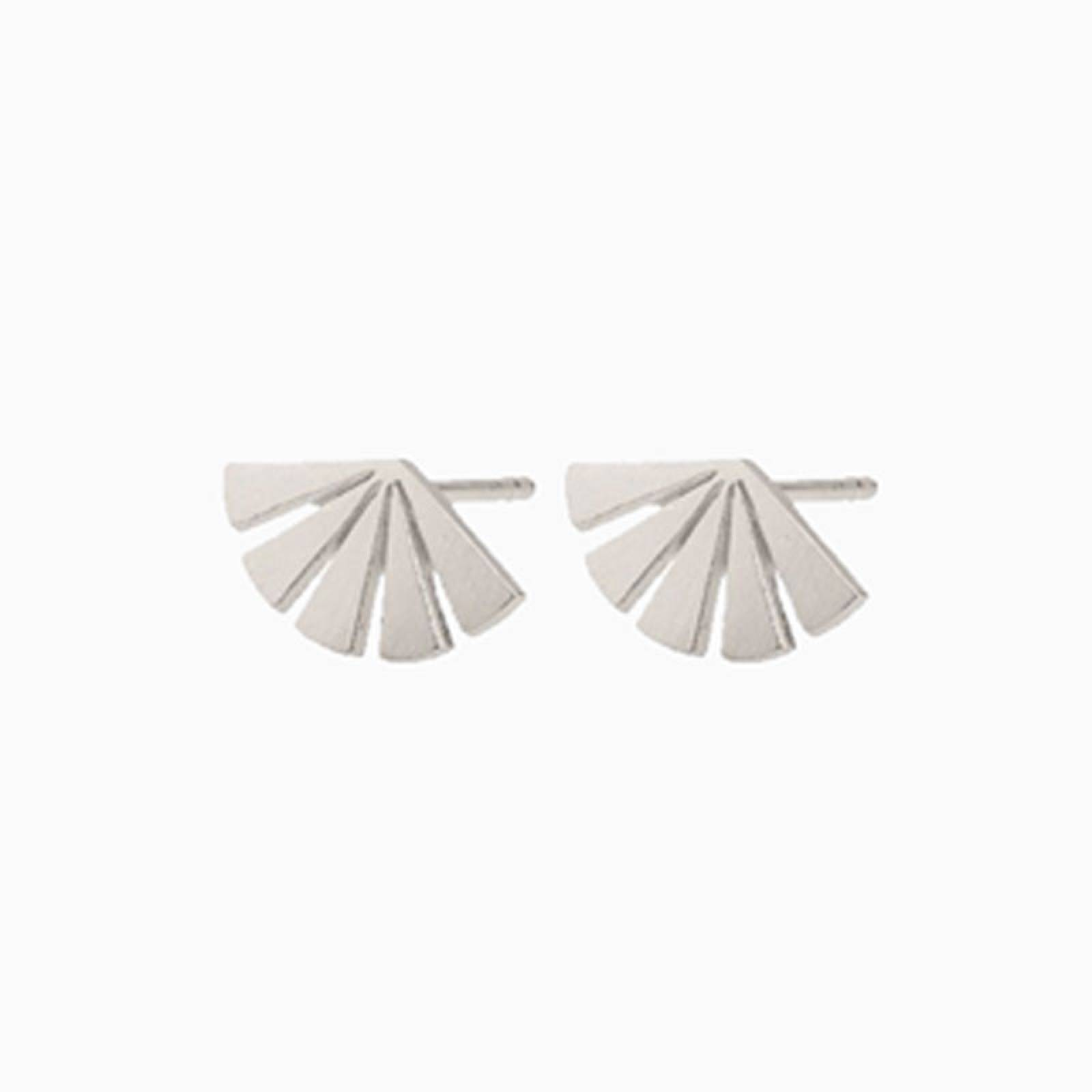 Dawn Stud Earrings In Silver By Pernille Corydon