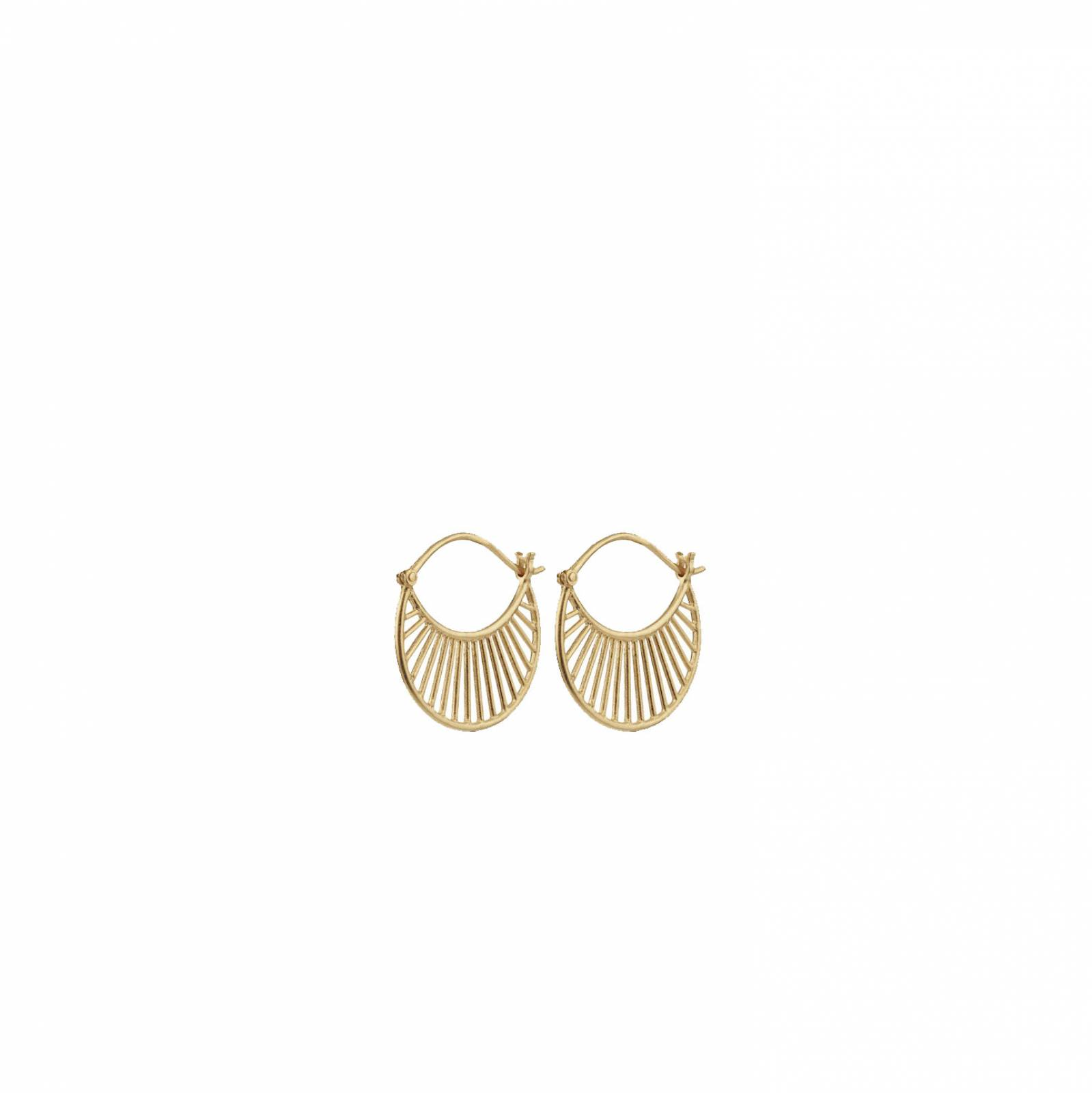 Daylight Hoop Earrings In Gold By Pernille Corydon