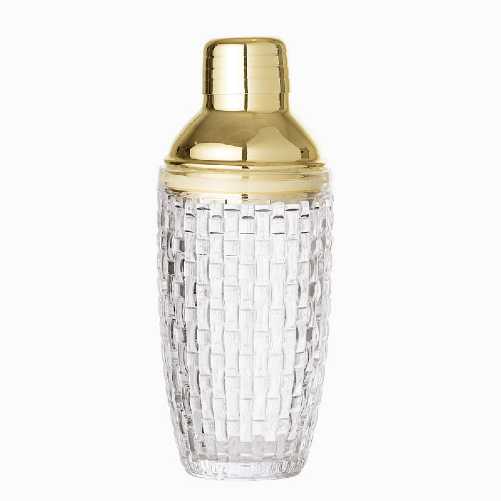 Deco Style Glass Cocktail Shaker 22cm