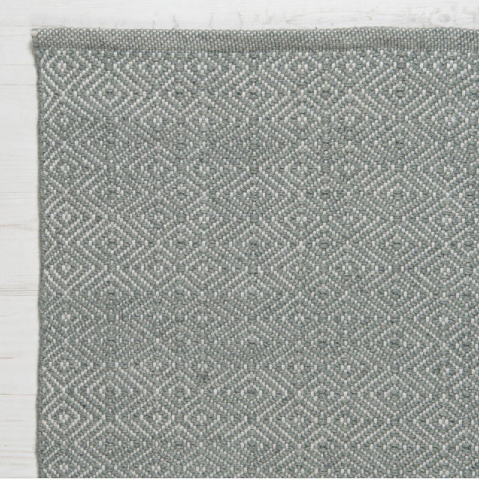 Diamond GREY 150x90cm Recycled Bottle Rug