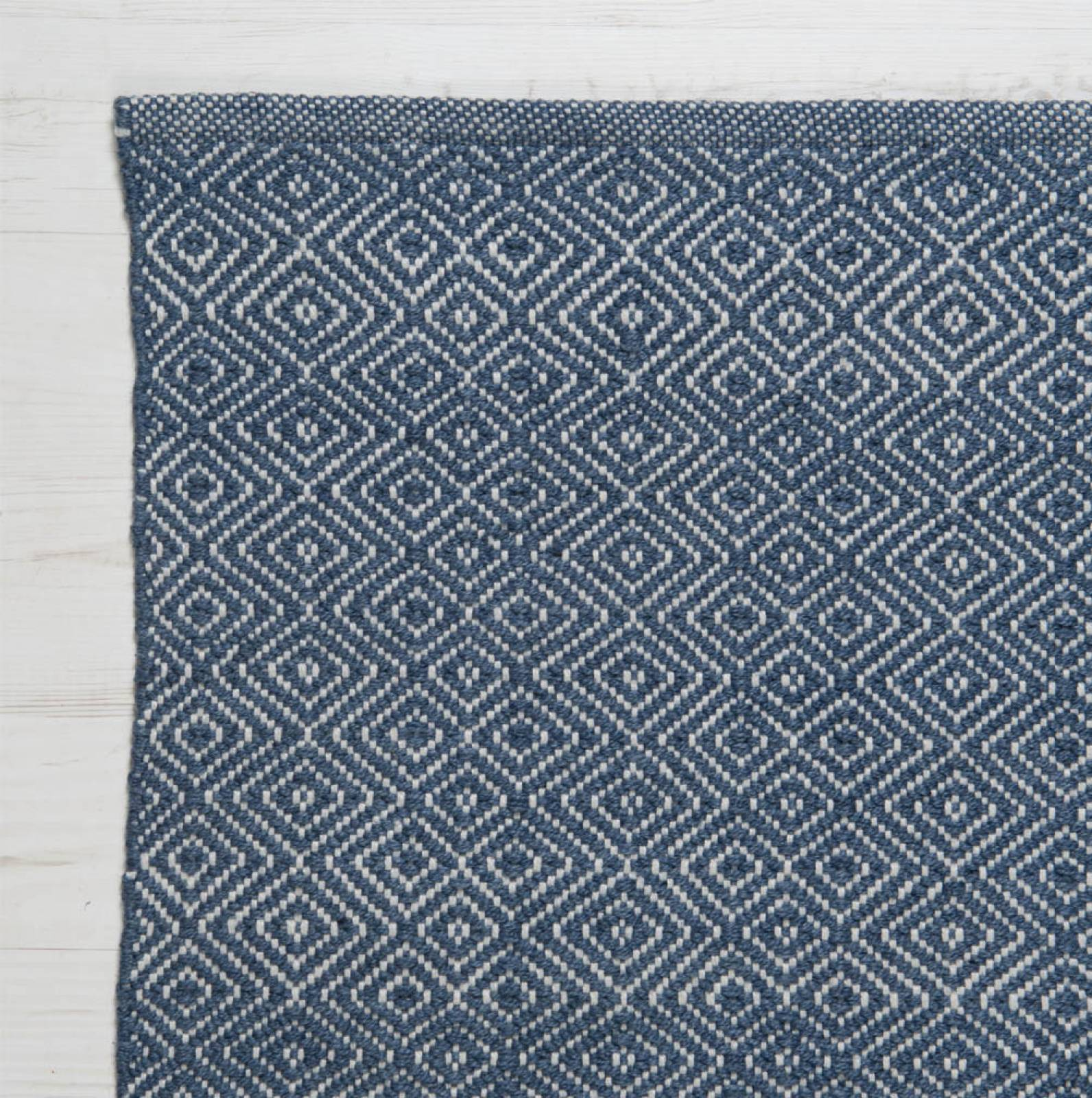 Diamond NAVY 180 x 120cm Recycled Bottle Rug thumbnails
