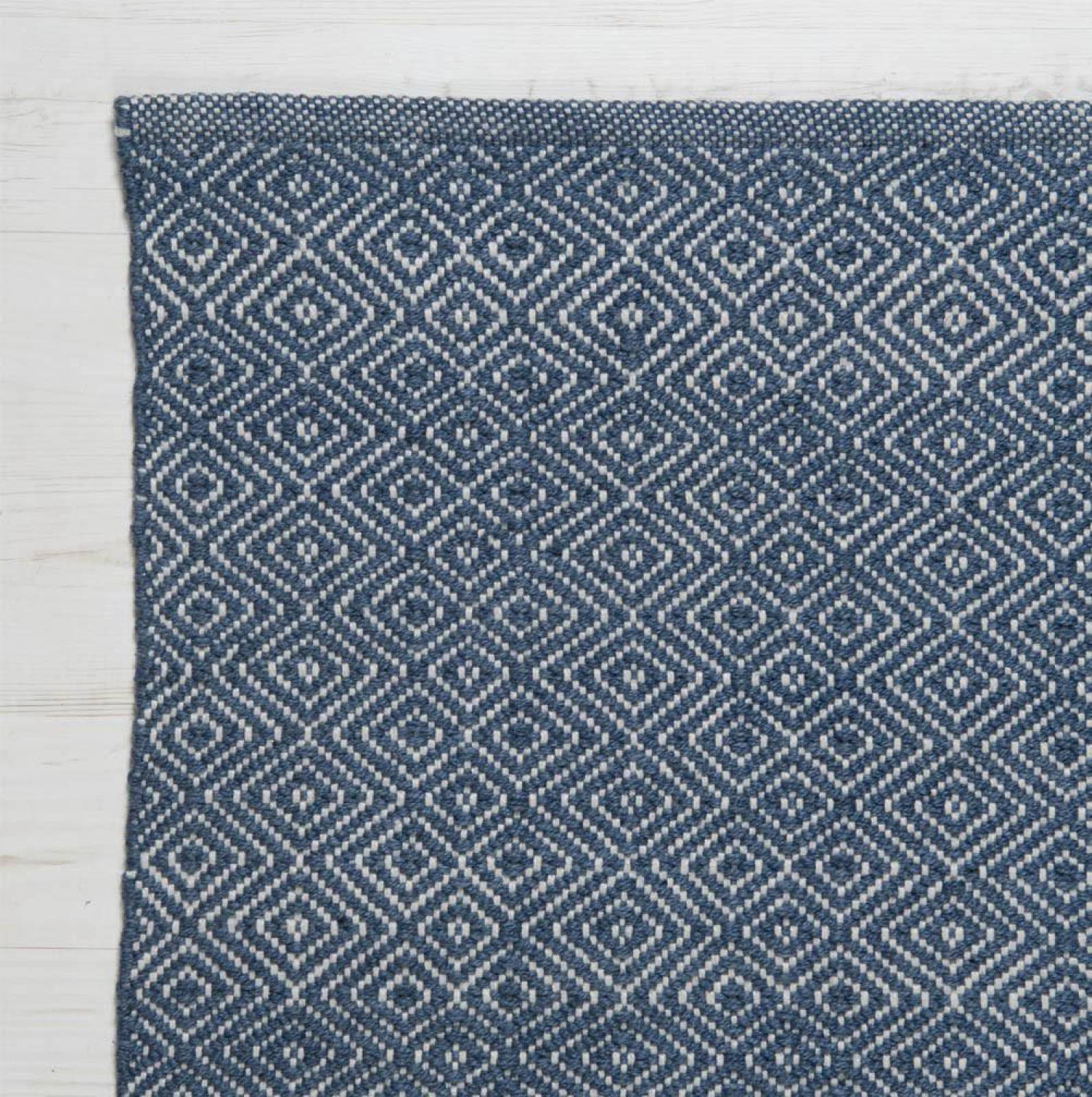 Diamond Navy 110x60cm Recycled Bottle Rug thumbnails