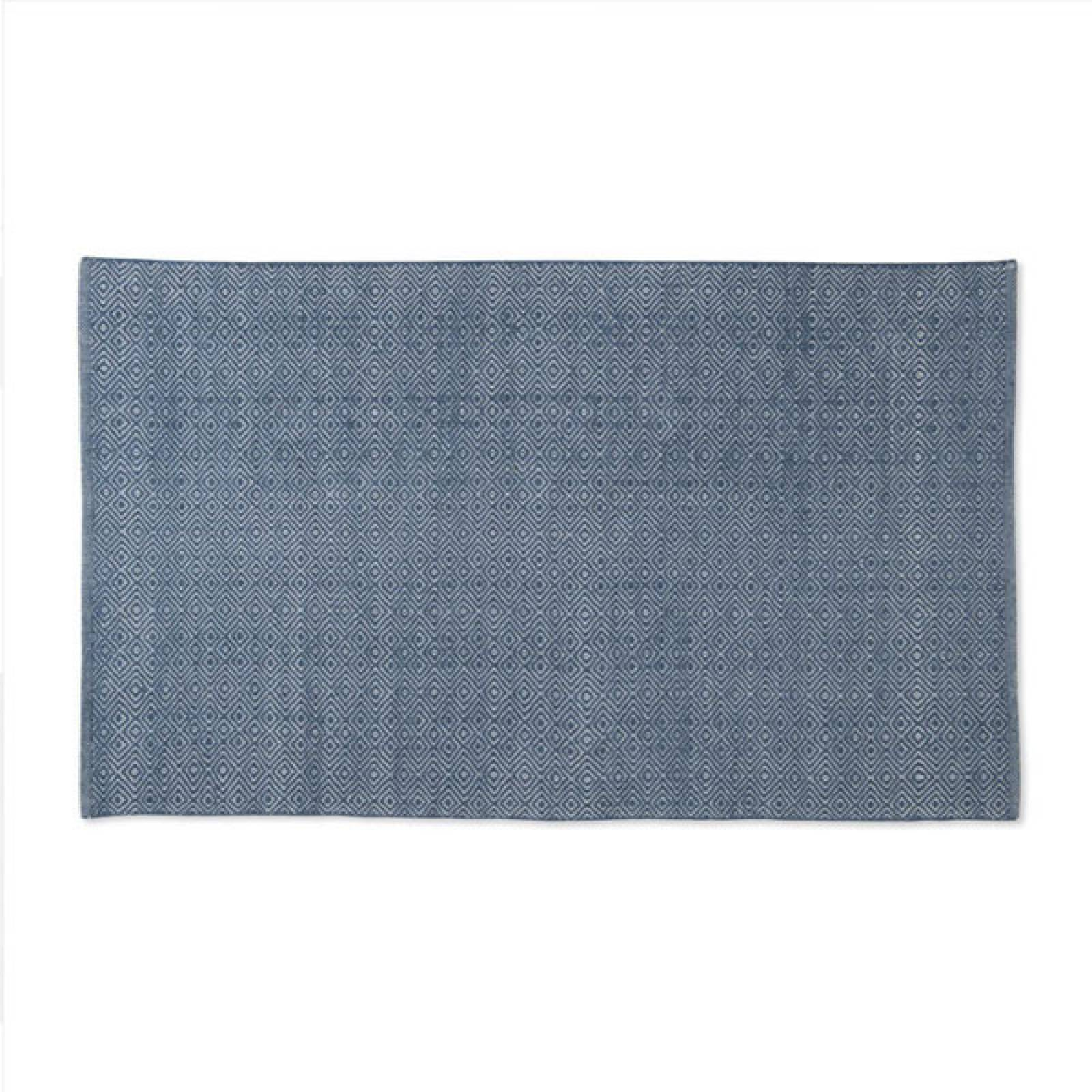 Diamond NAVY 150cmx90cm Recycled Bottle Rug thumbnails