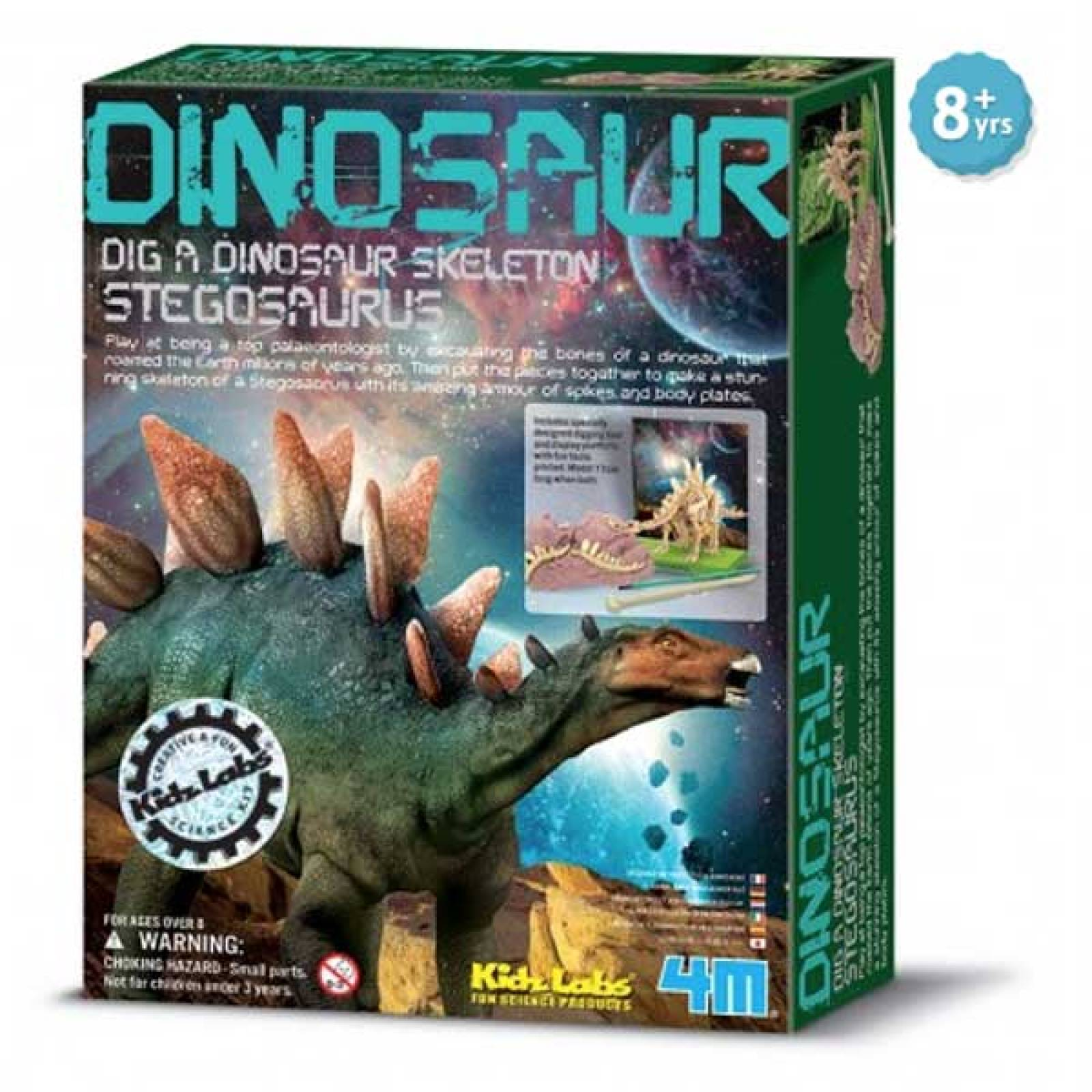 Dig A Stegosaurus Skeleton Kit - Kidz Labs 8+