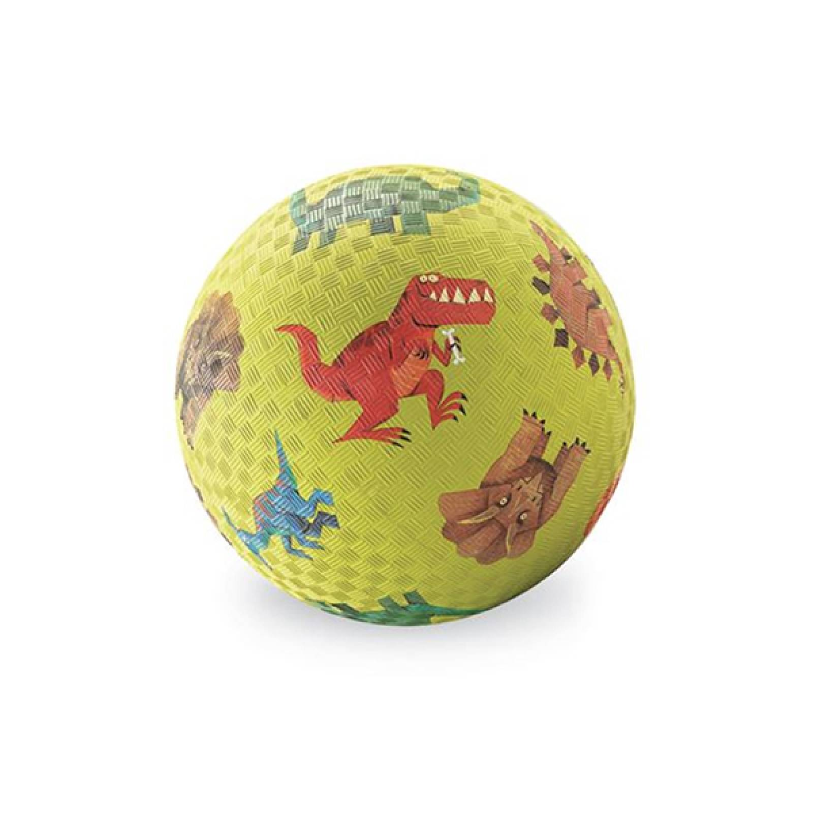 Green Dinosaurs - Small Rubber Picture Ball 13cm