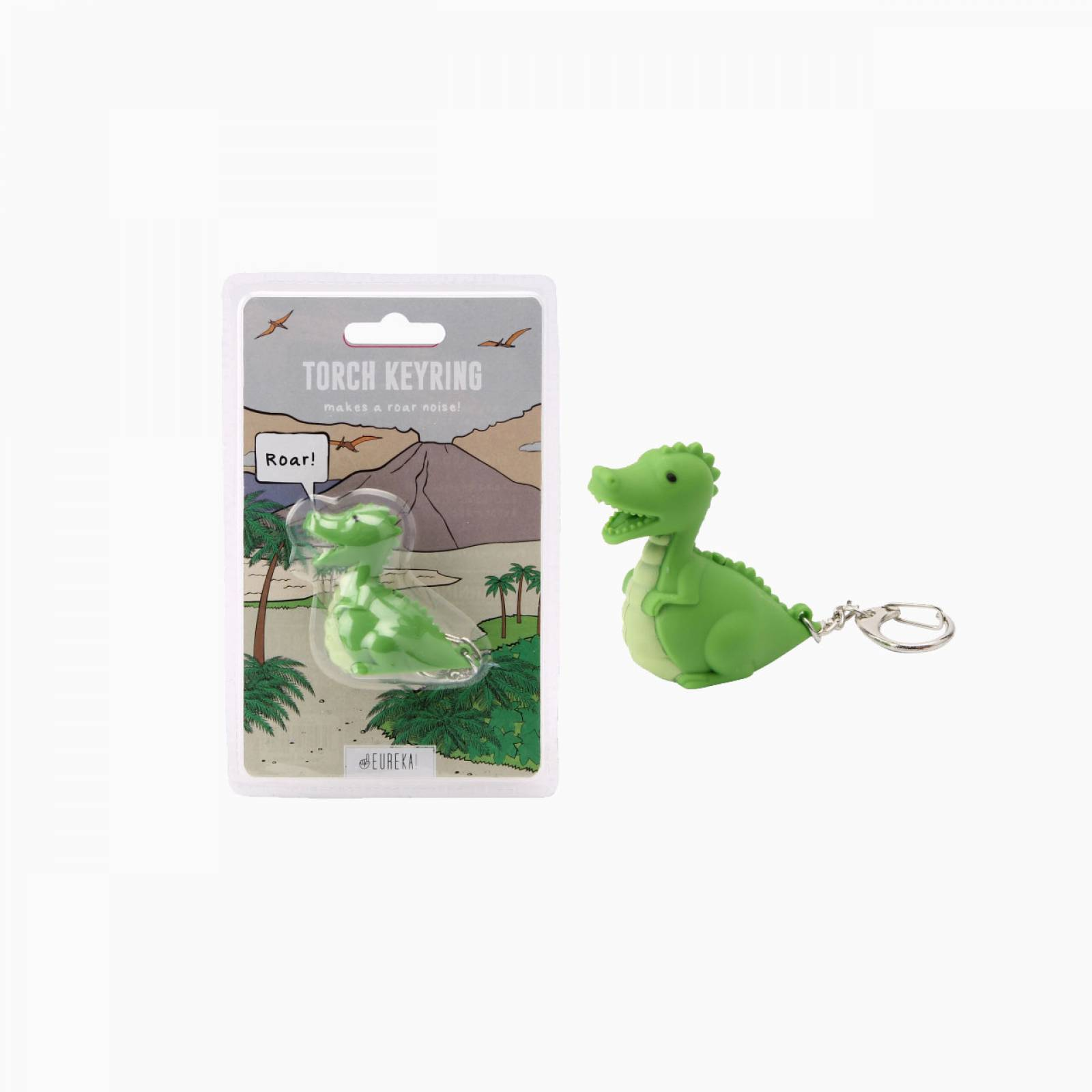 Dinosaur Keyring With Torch And Sound