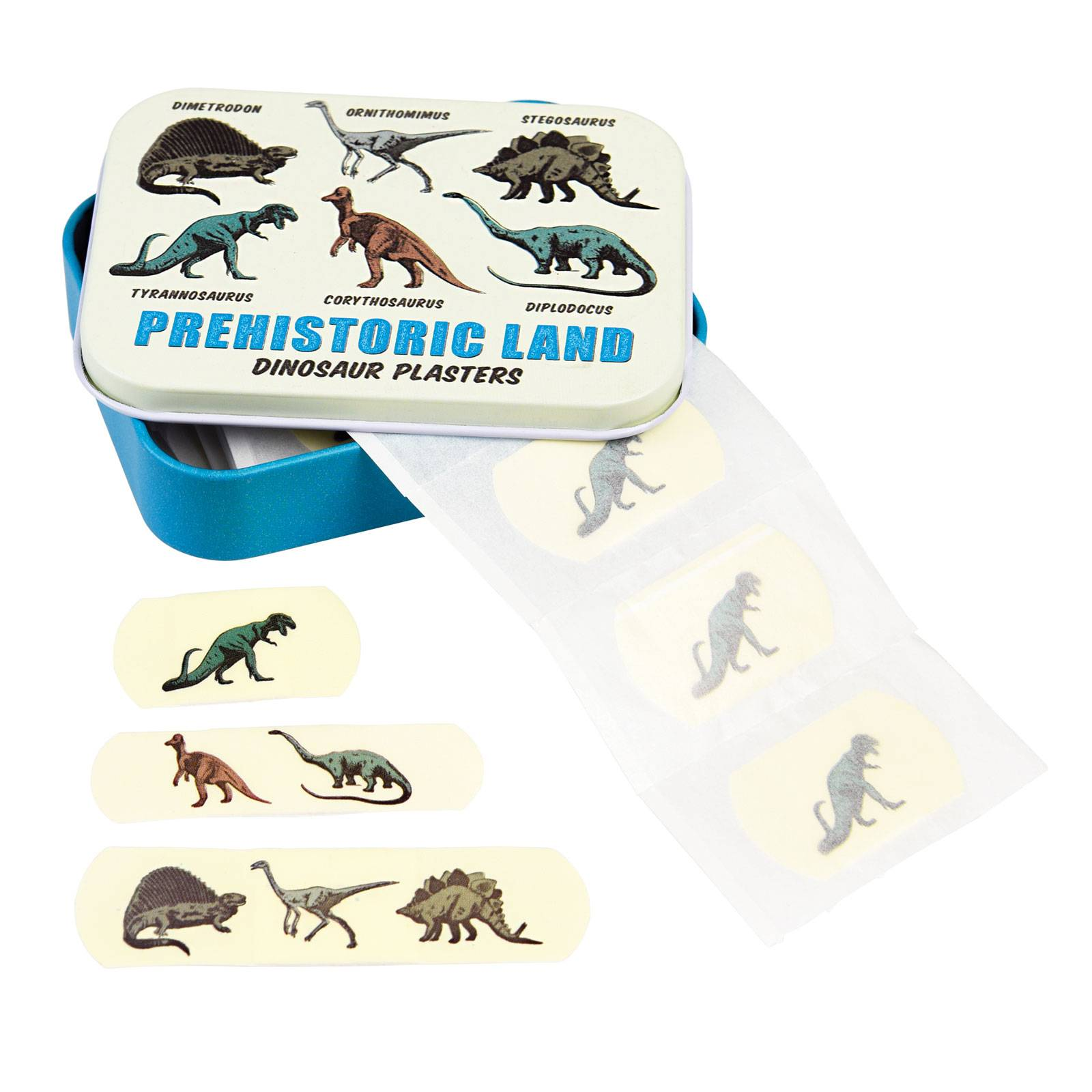 Dinosaur Plasters In A Tin