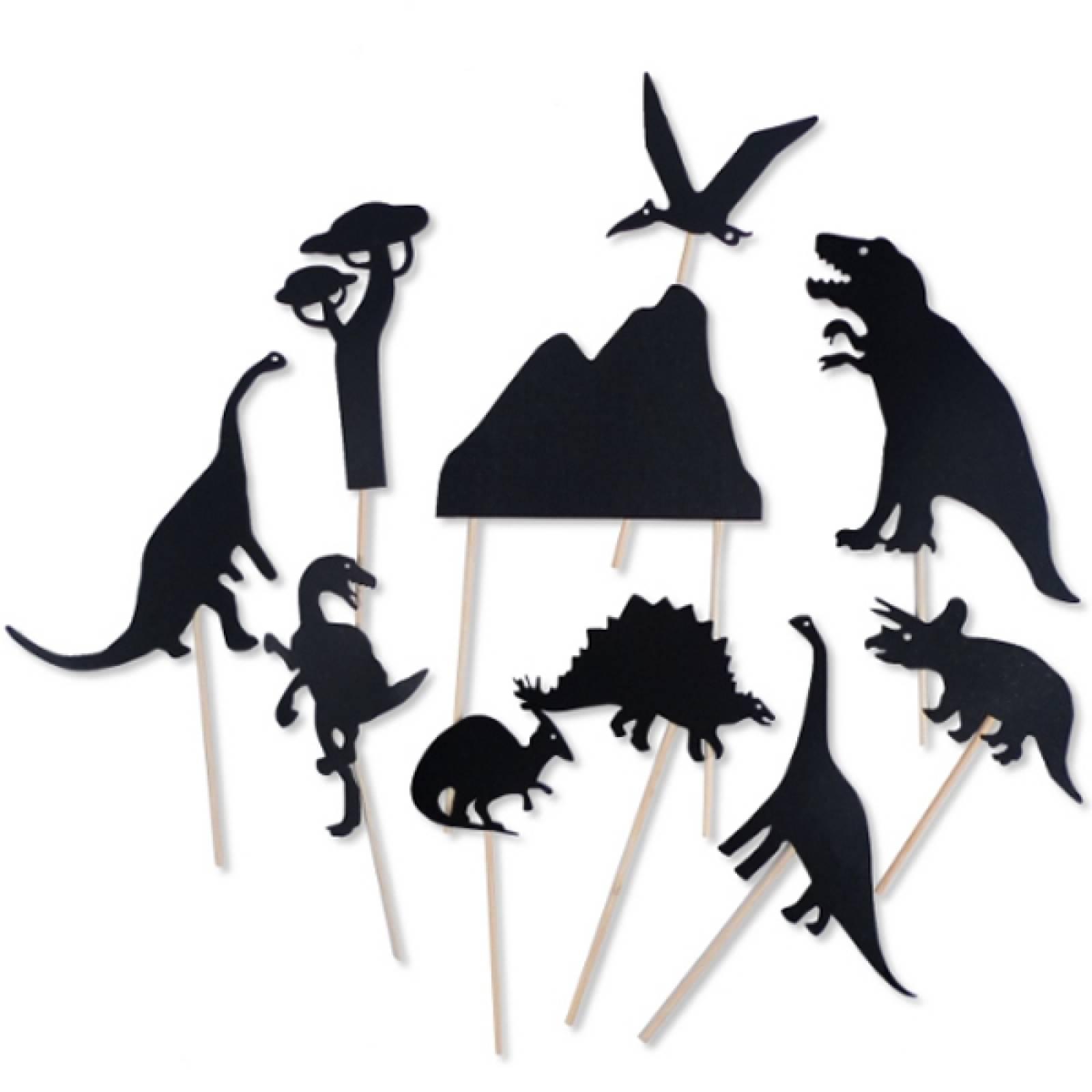 Dinosaur - Shadow Puppets On Sticks 18m+