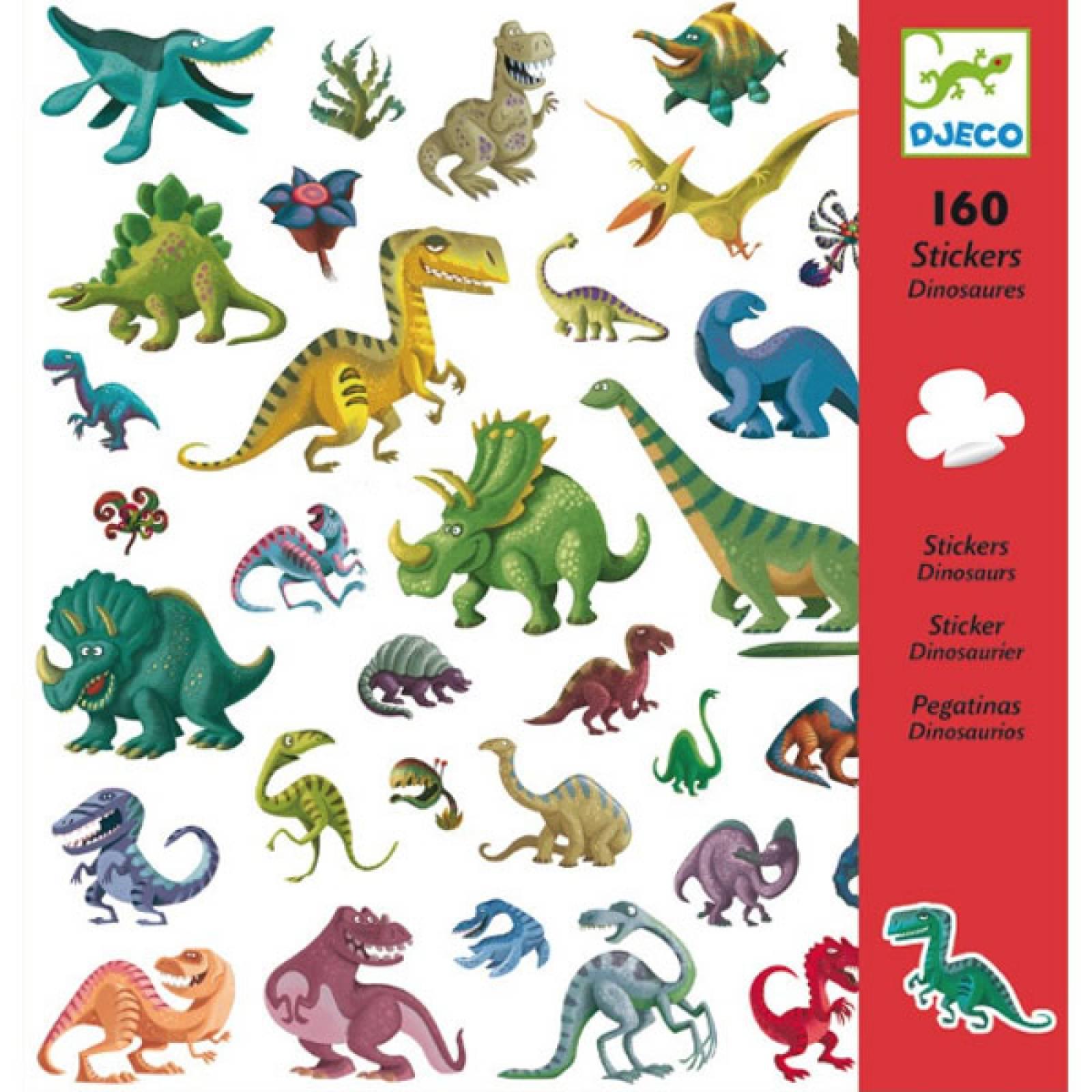 Dinosaur Stickers - Stylish 160 Sticker Pack By Djeco