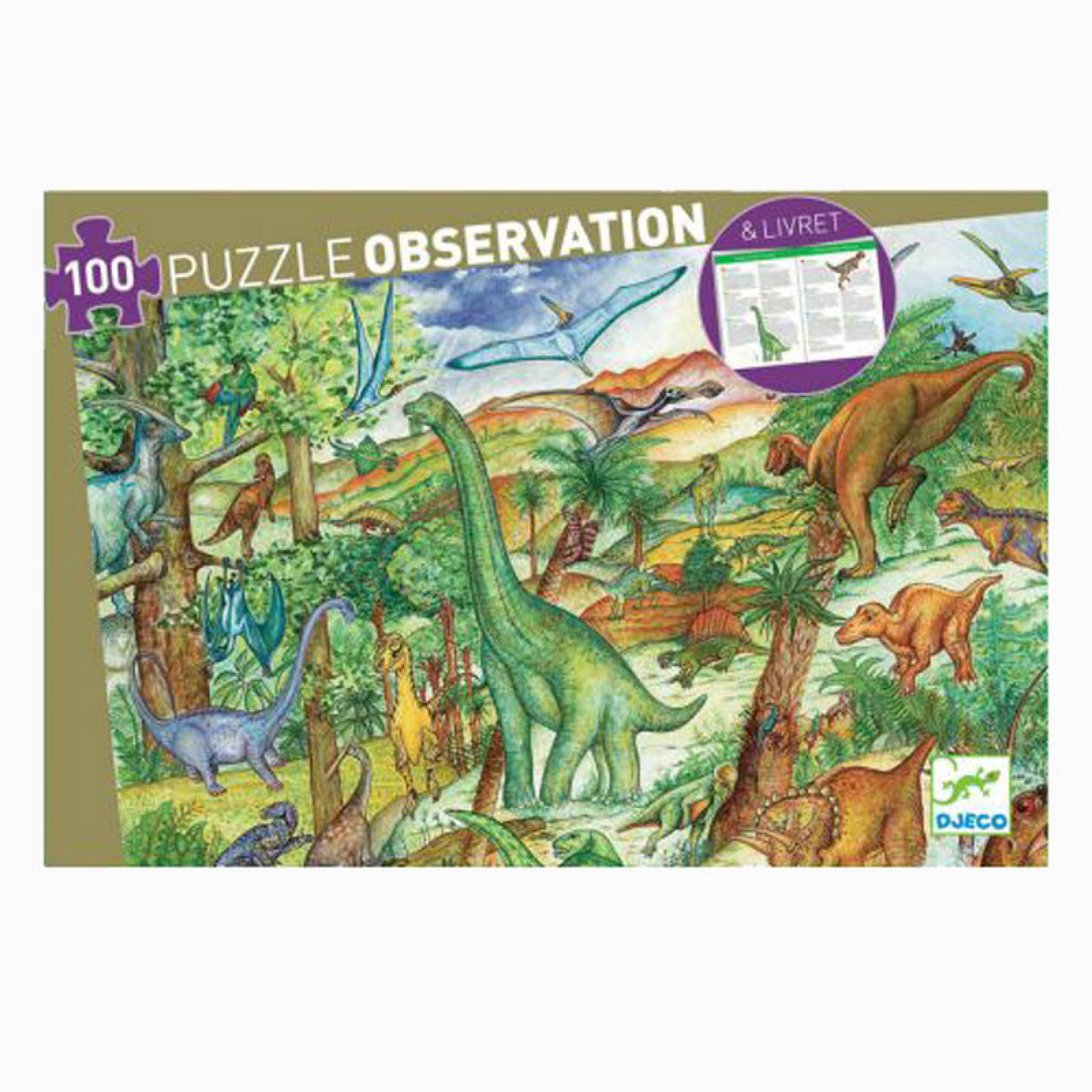 Dinosaurs Observation 100 Piece Puzzle By Djeco