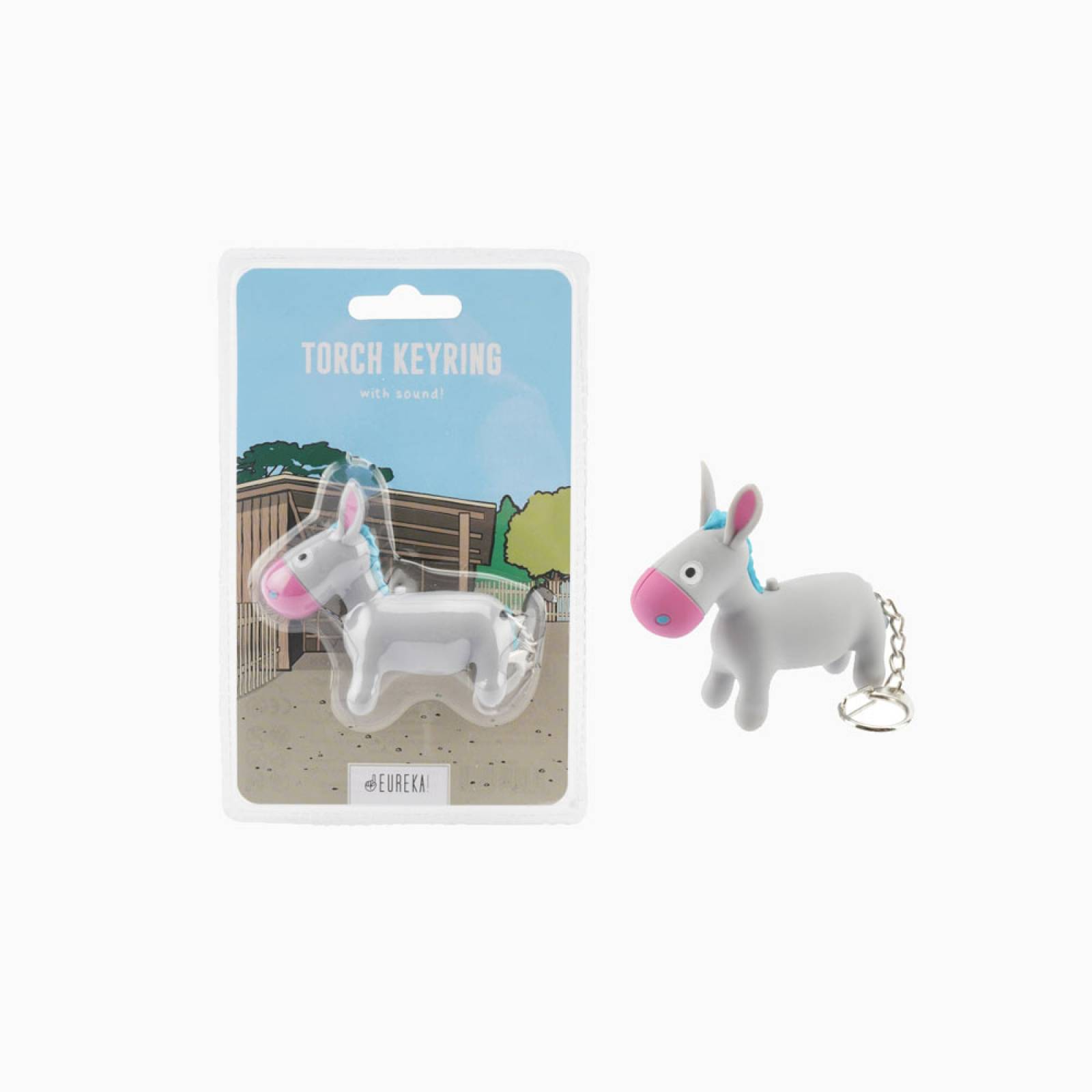 Donkey Keyring With Torch And Sound