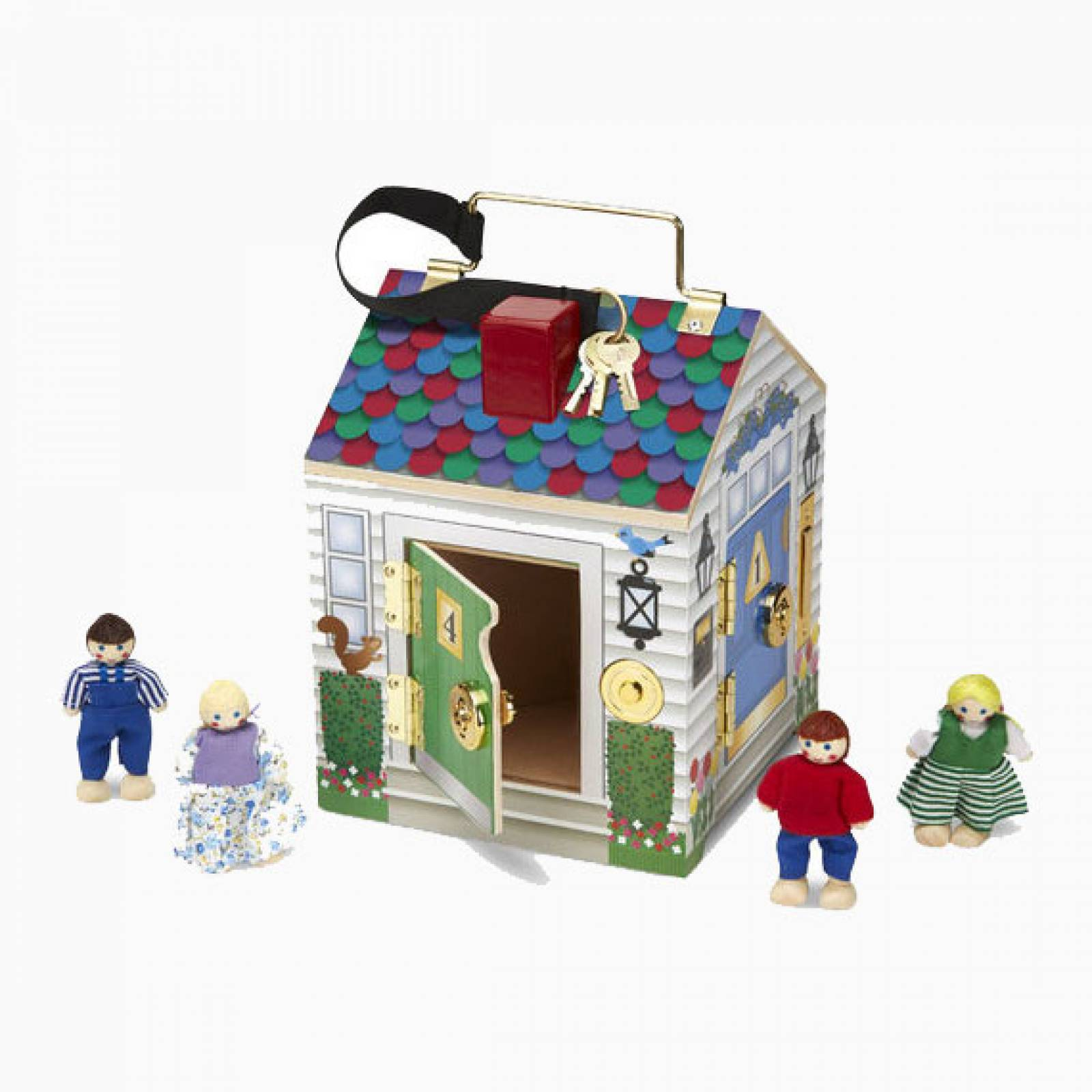 Doorbell House With Keys and Bells 3yrs+