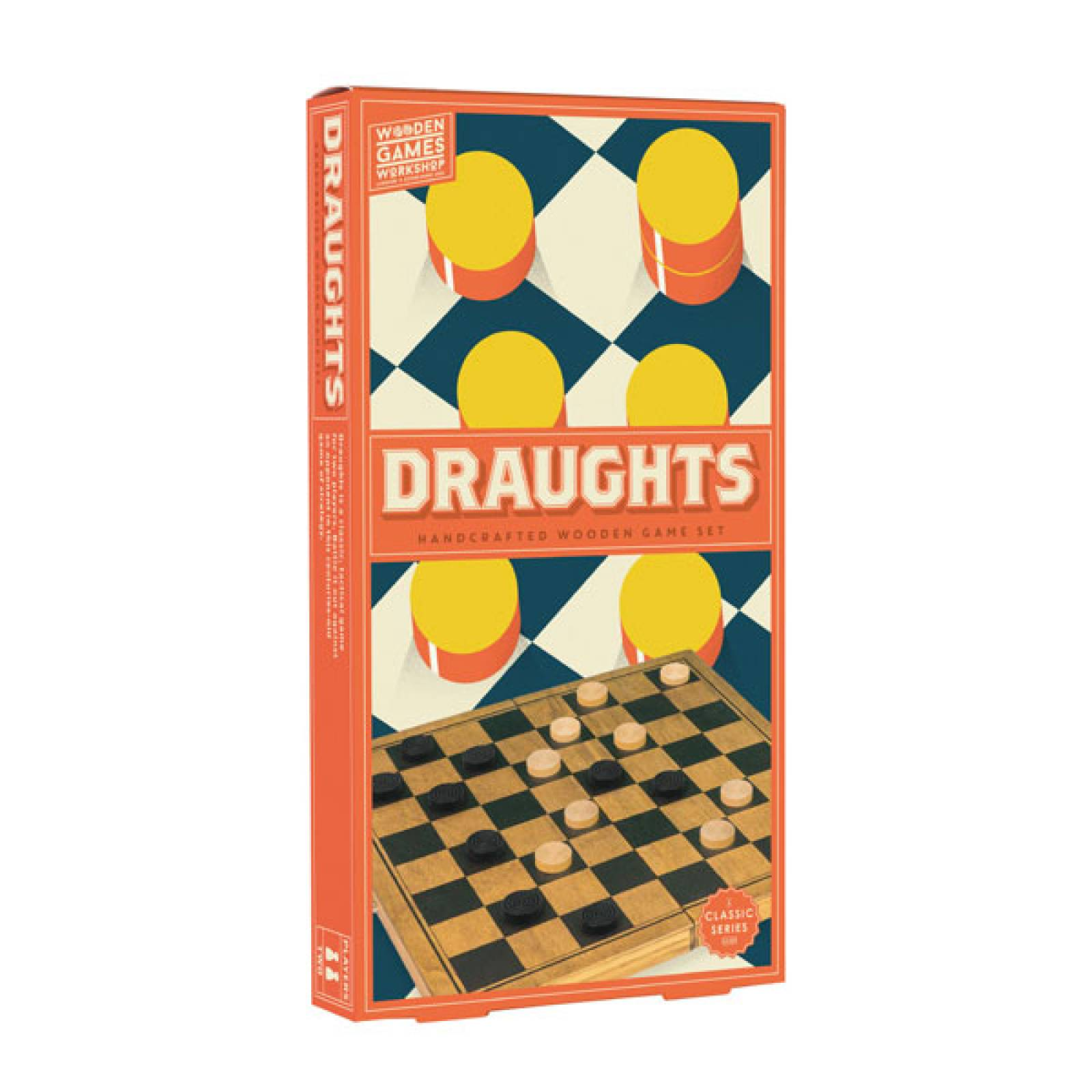DRAUGHTS Handcrafted Wooden Board Game