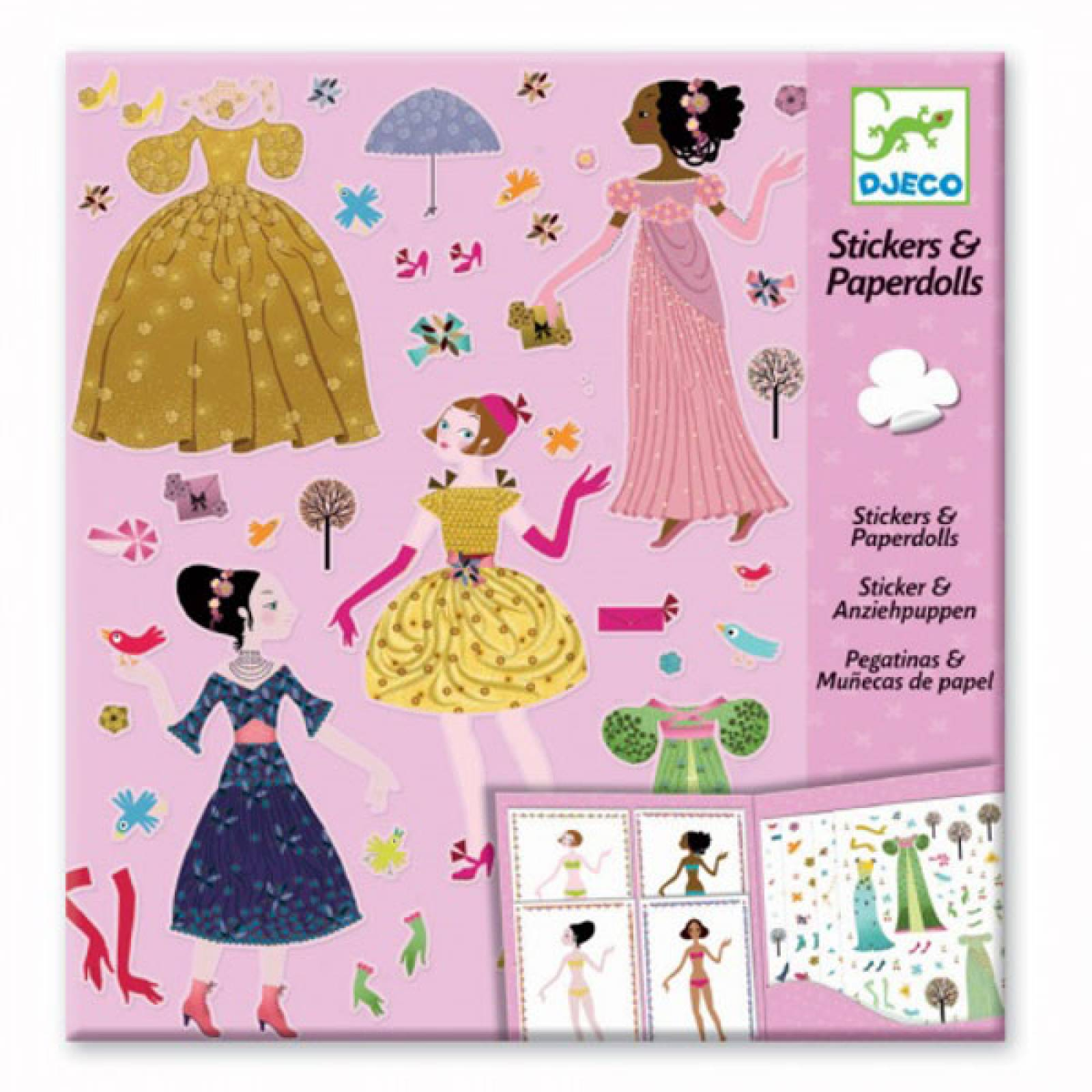 Dresses Through Seasons - Reusable Sticker Pack By Djeco