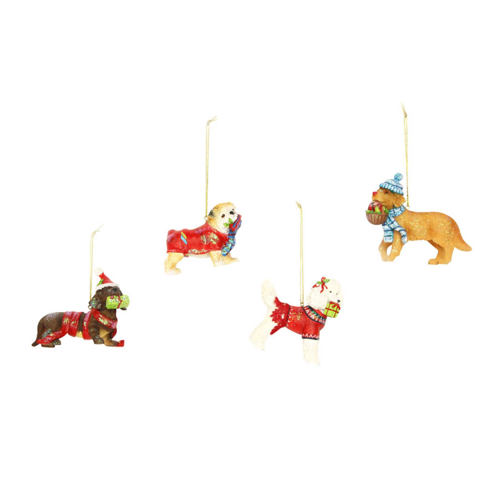 Dressed Dog Christmas Decoration By Gislea Graham