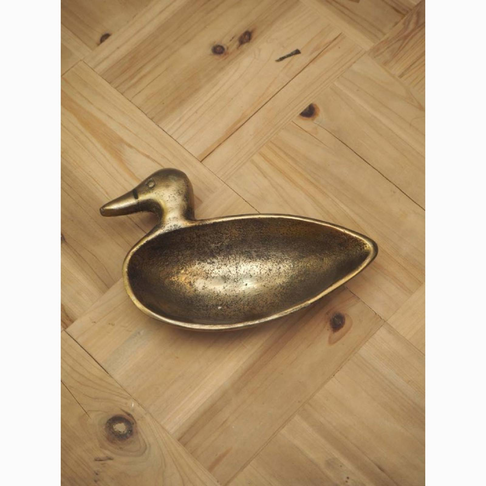 Duck Shaped Brass Trinket Tray thumbnails