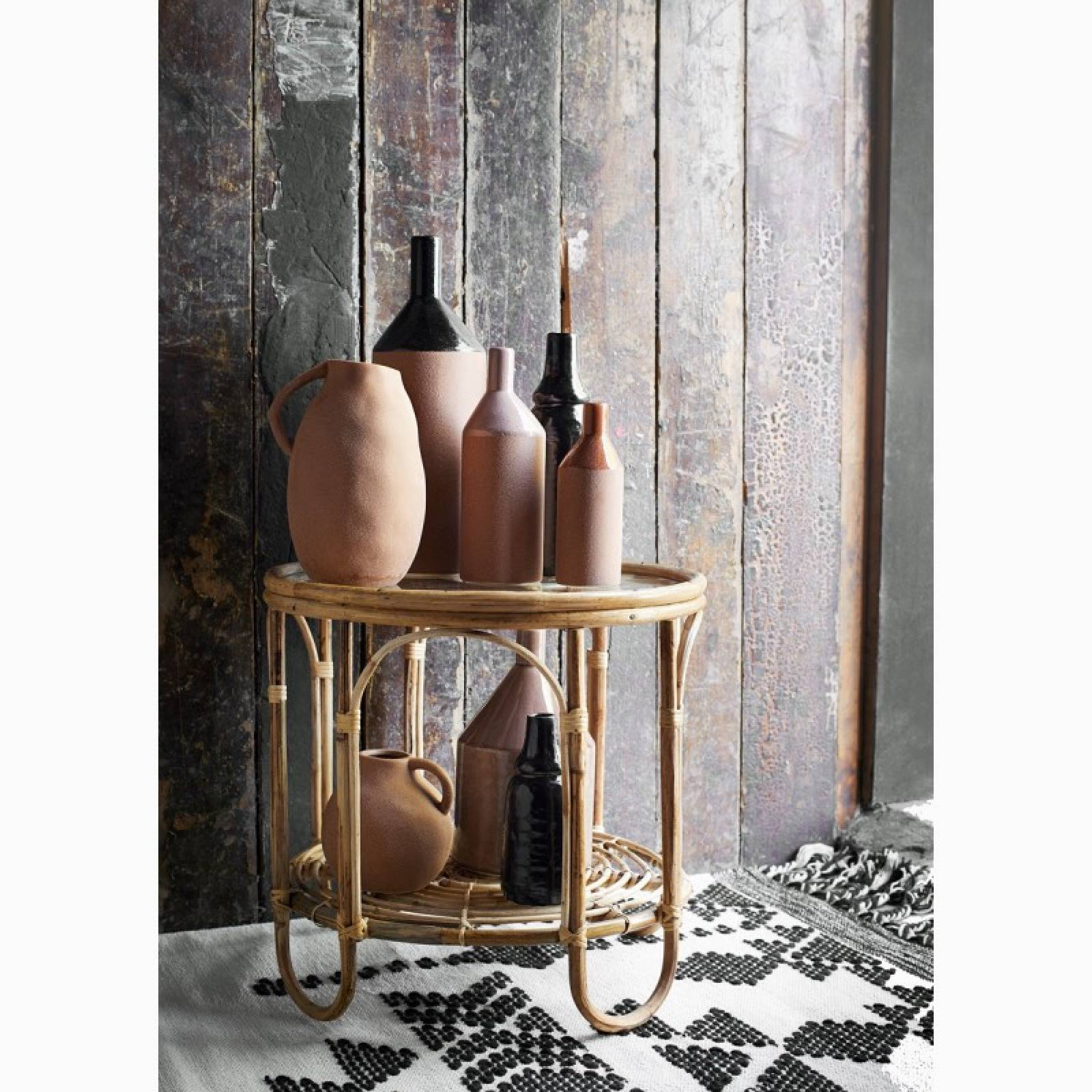 Sandstone Red Slim Glazed Vase 20cm thumbnails