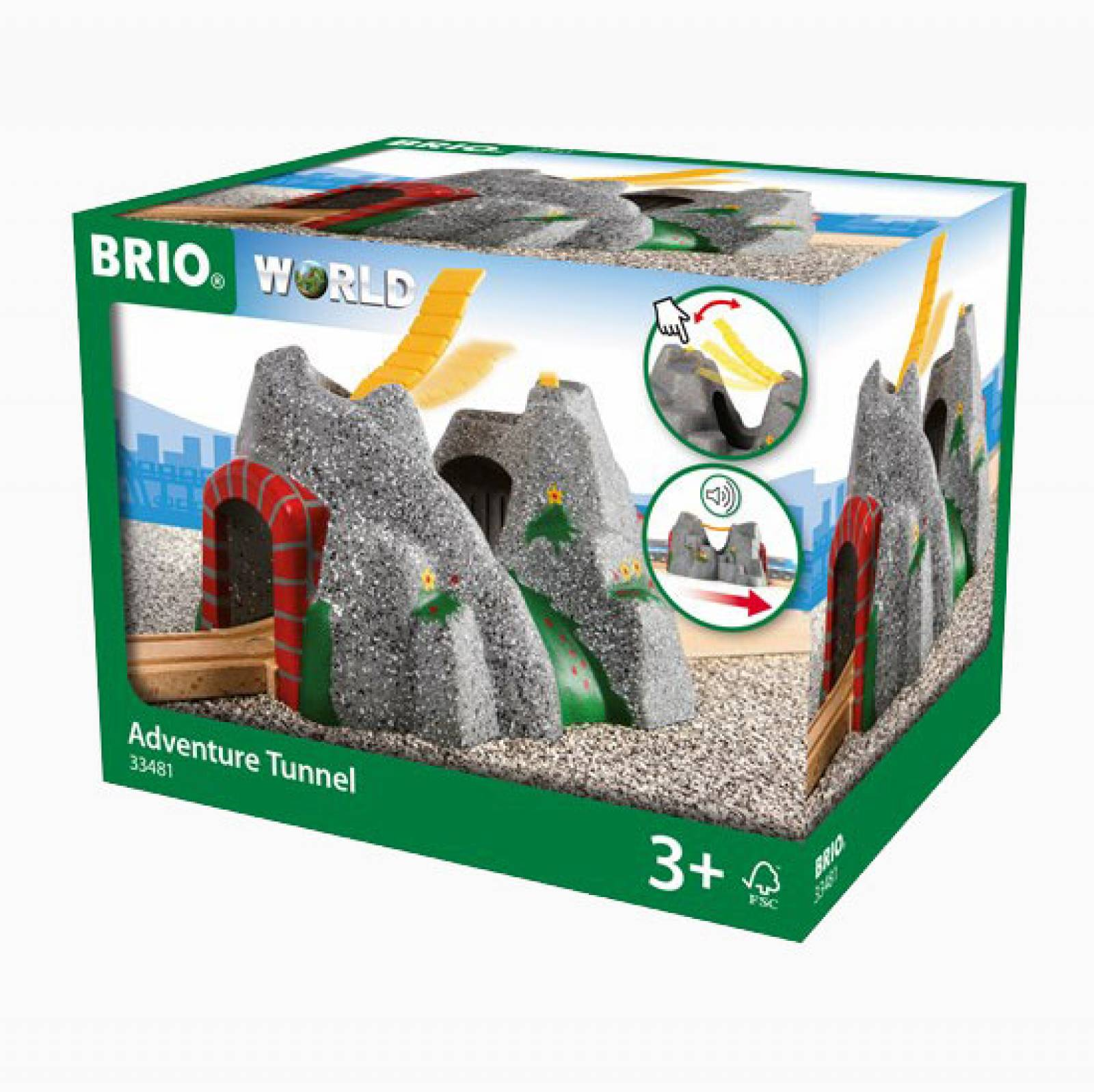 Adventure Tunnel BRIO Wooden Railway Age 3+ thumbnails