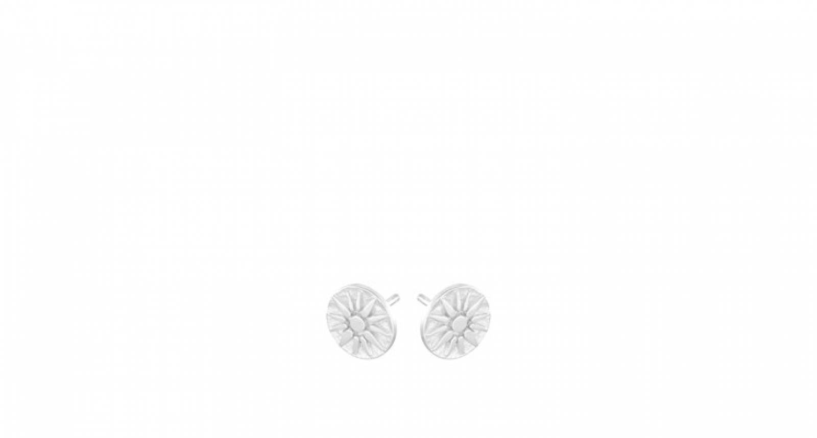 Bali Stud Earrings In Silver By Pernille Corydon