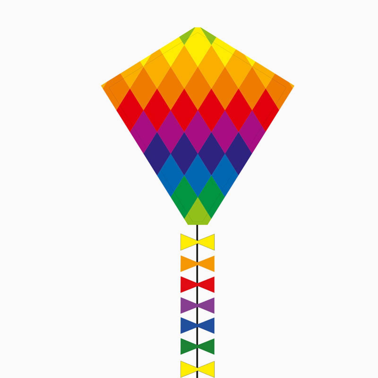 Eddy Rainbow Patchwork Kite 50cm
