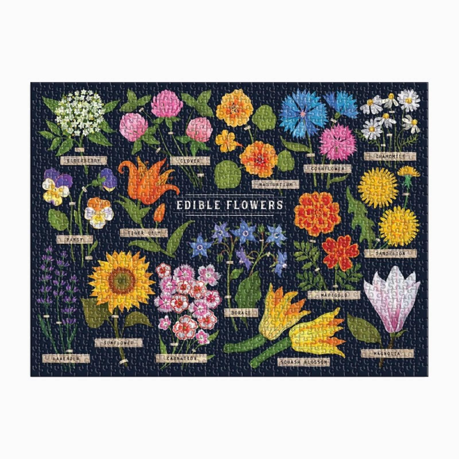 Edible Flowers - 1000 Piece Jigsaw Puzzle thumbnails