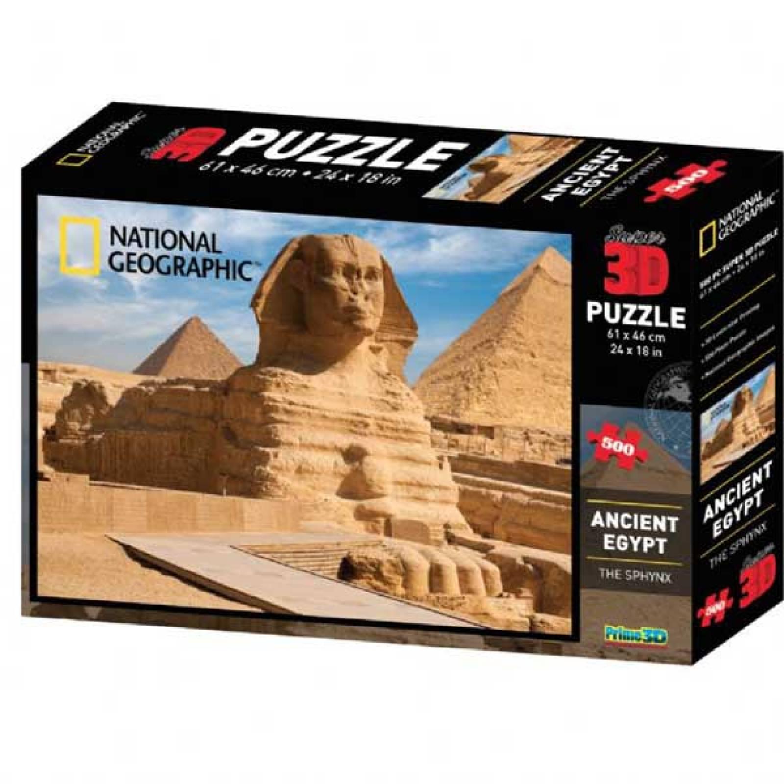 ANCIENT EGYPT Super 3D Puzzle 500pc National Geographic