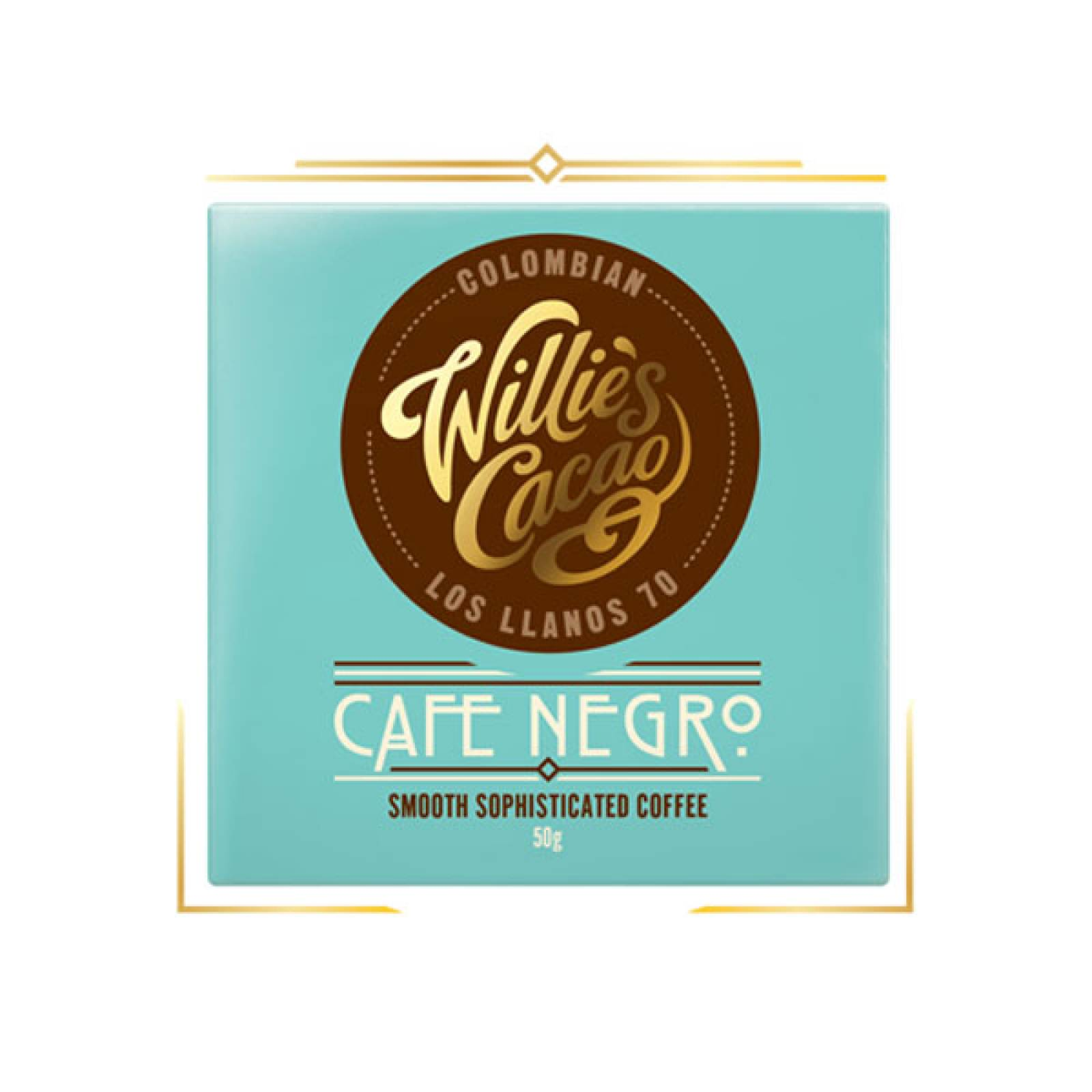 Cafe Negro Dark Chocolate With Coffee 50g Willie's Cacao