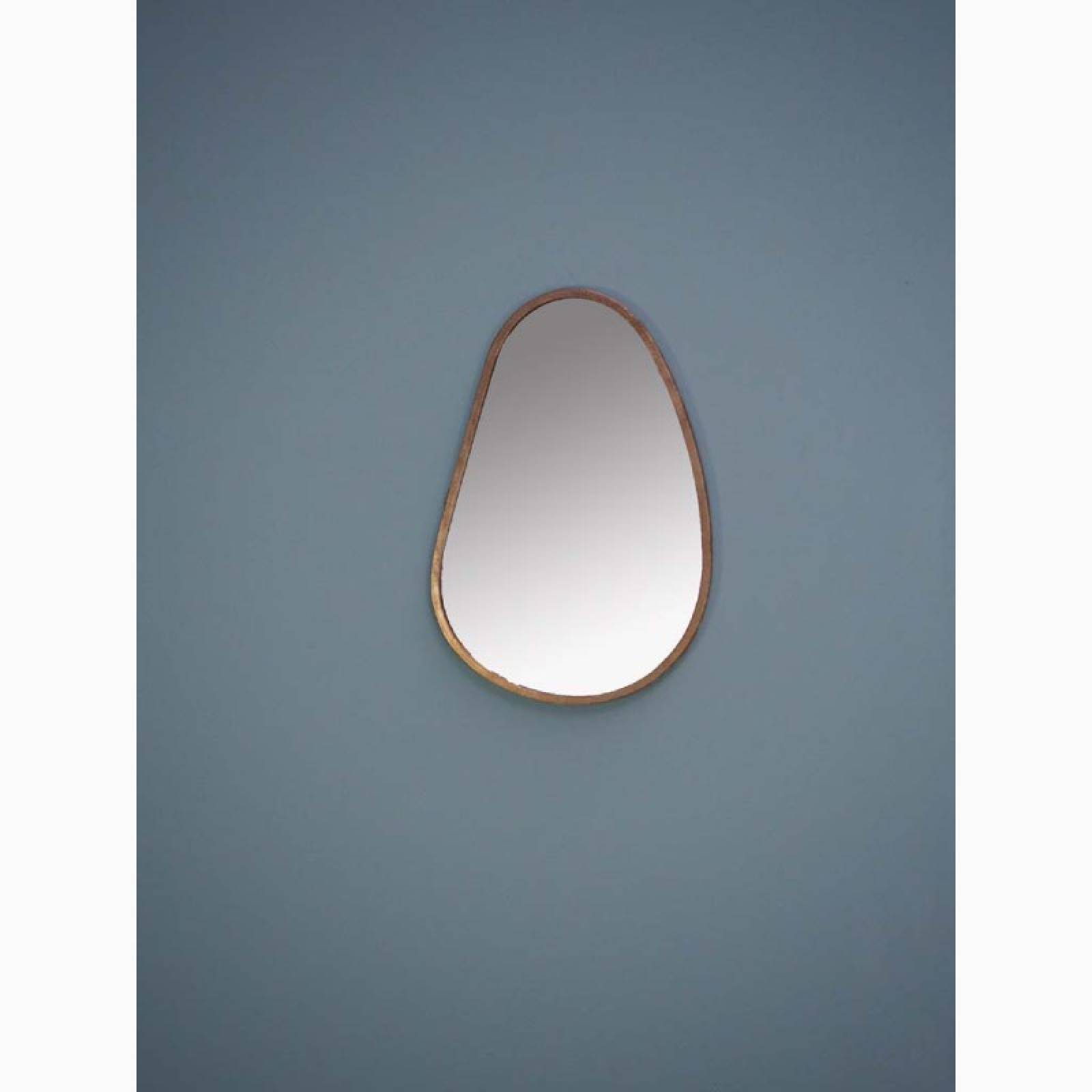 Elae Tear Drop Shaped Mirror With Gold Frame thumbnails